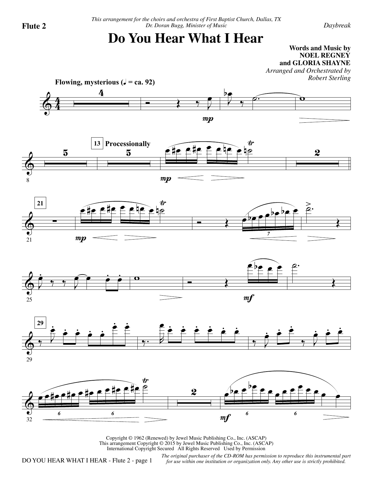 Do You Hear What I Hear - Flute 2 Sheet Music