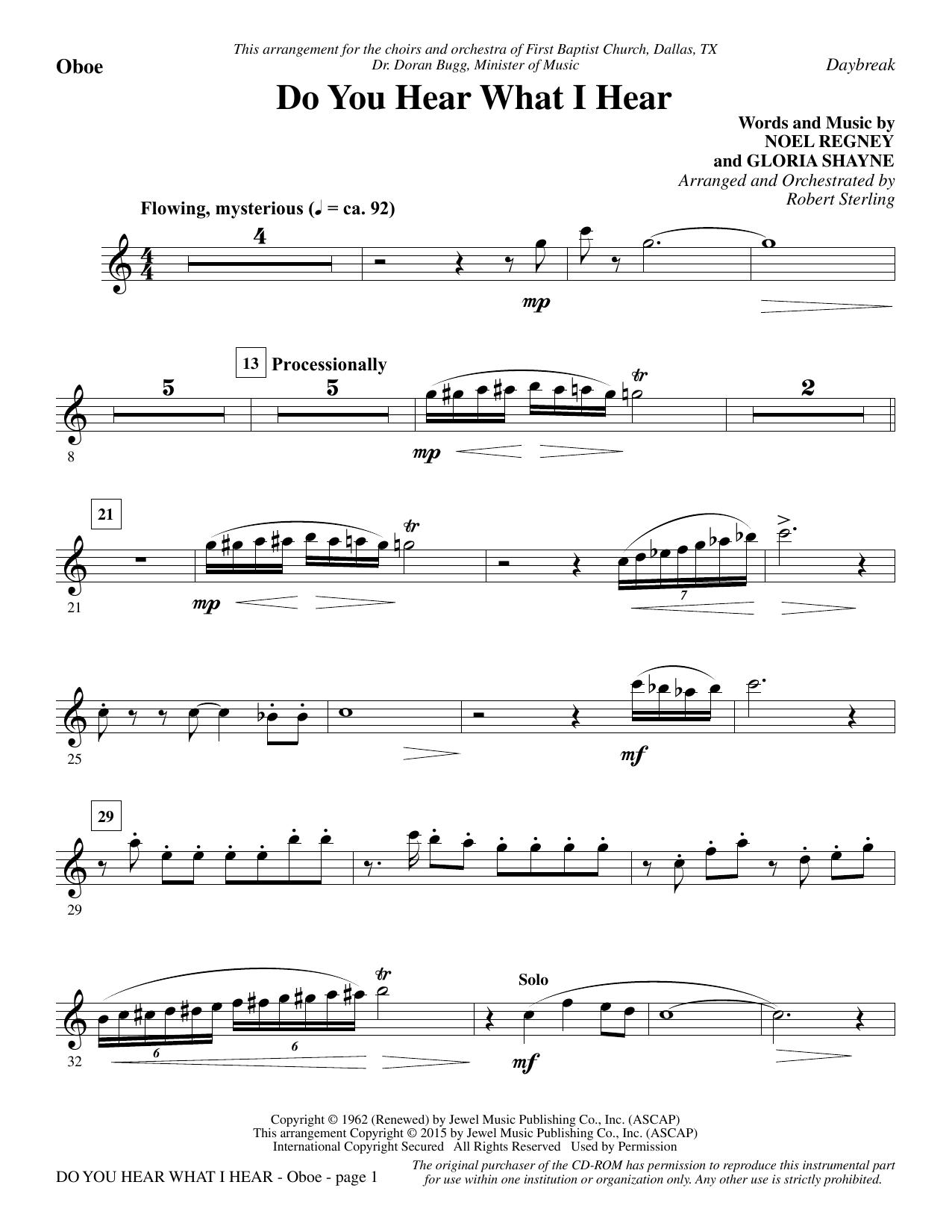 Do You Hear What I Hear - Oboe Sheet Music