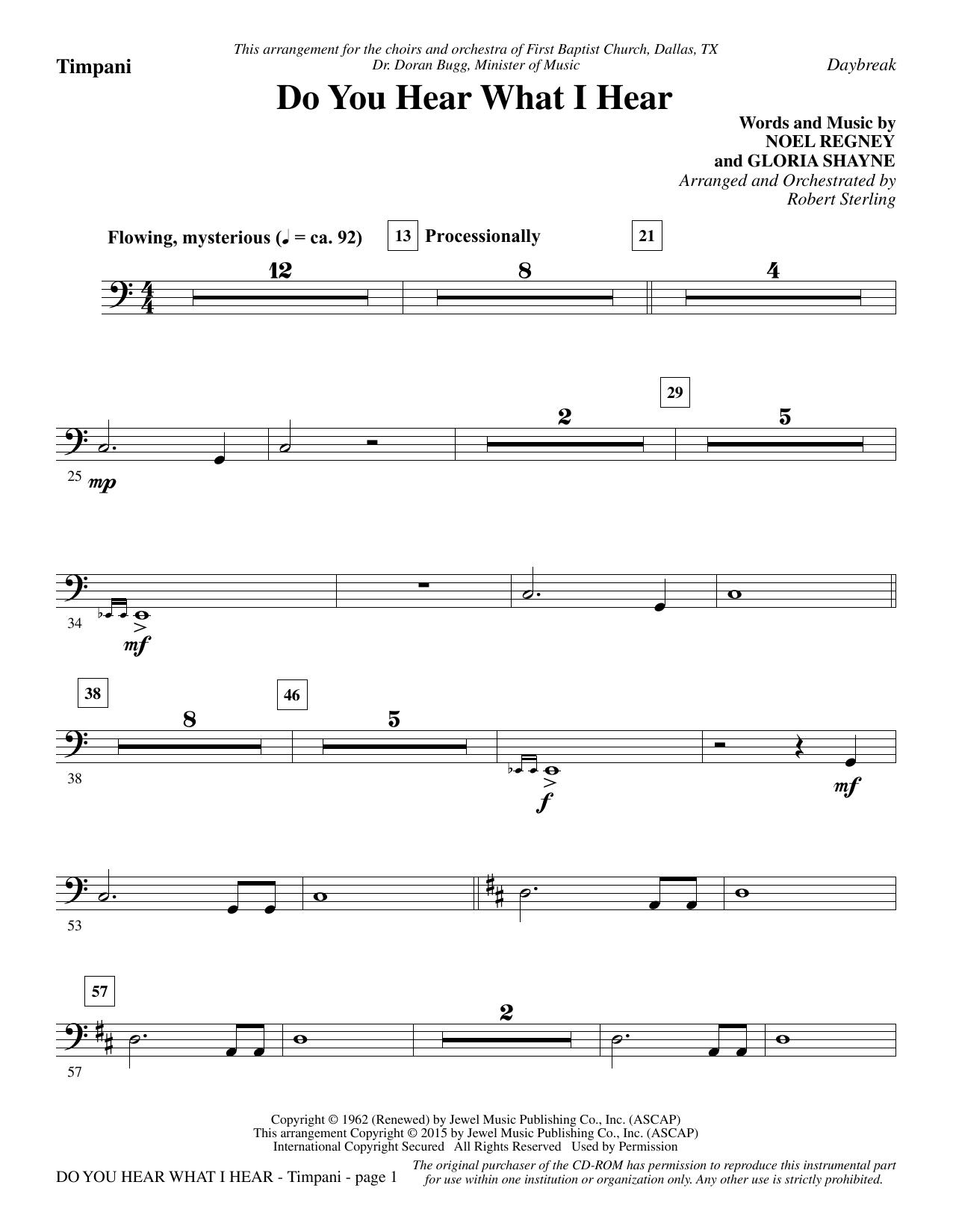 Do You Hear What I Hear - Timpani Sheet Music