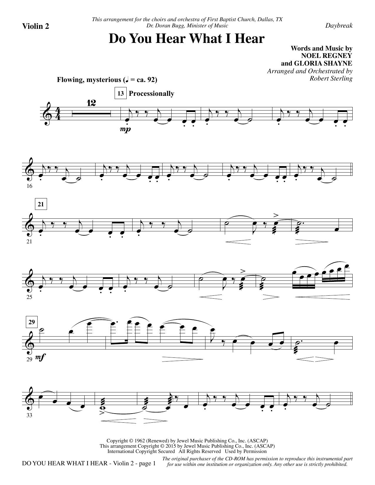 Do you hear what i hear violin 2 sheet music direct sheet preview hexwebz Images