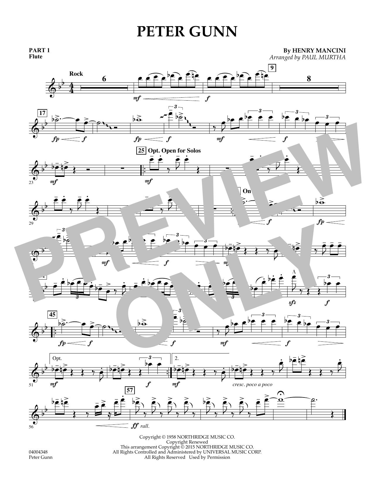 Peter Gunn - Pt.1 - Flute (Flex-Band)