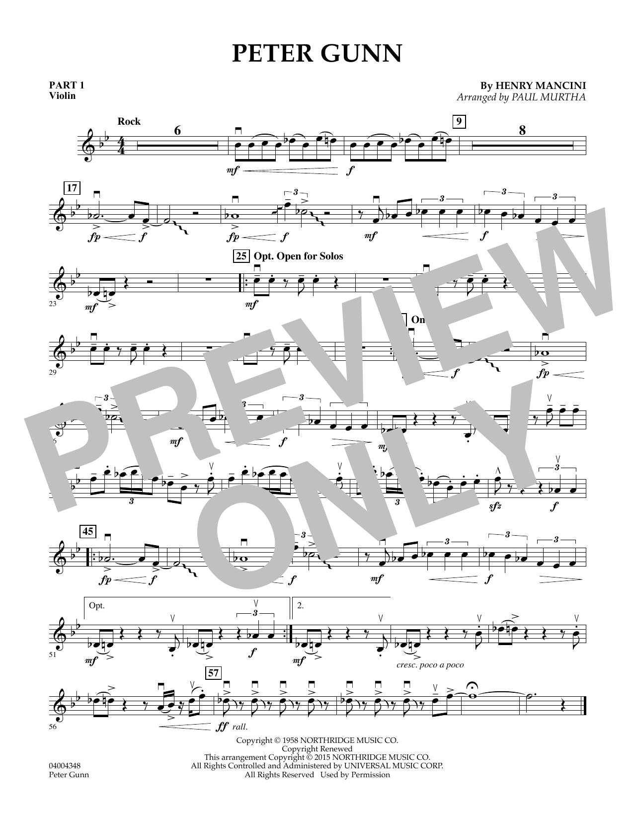 Peter Gunn - Pt.1 - Violin (Flex-Band)