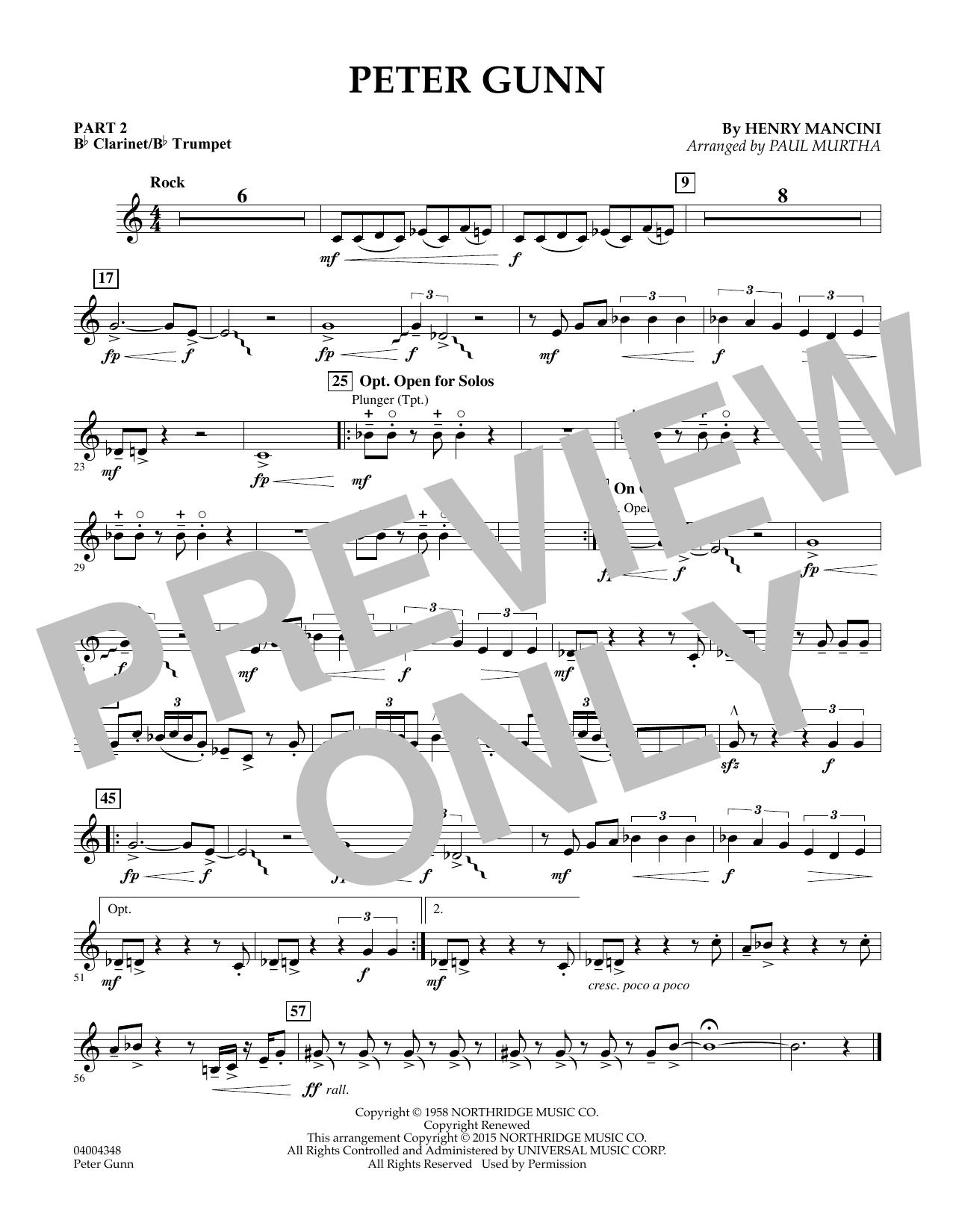 Peter Gunn - Pt.2 - Bb Clarinet/Bb Trumpet (Concert Band: Flex-Band)