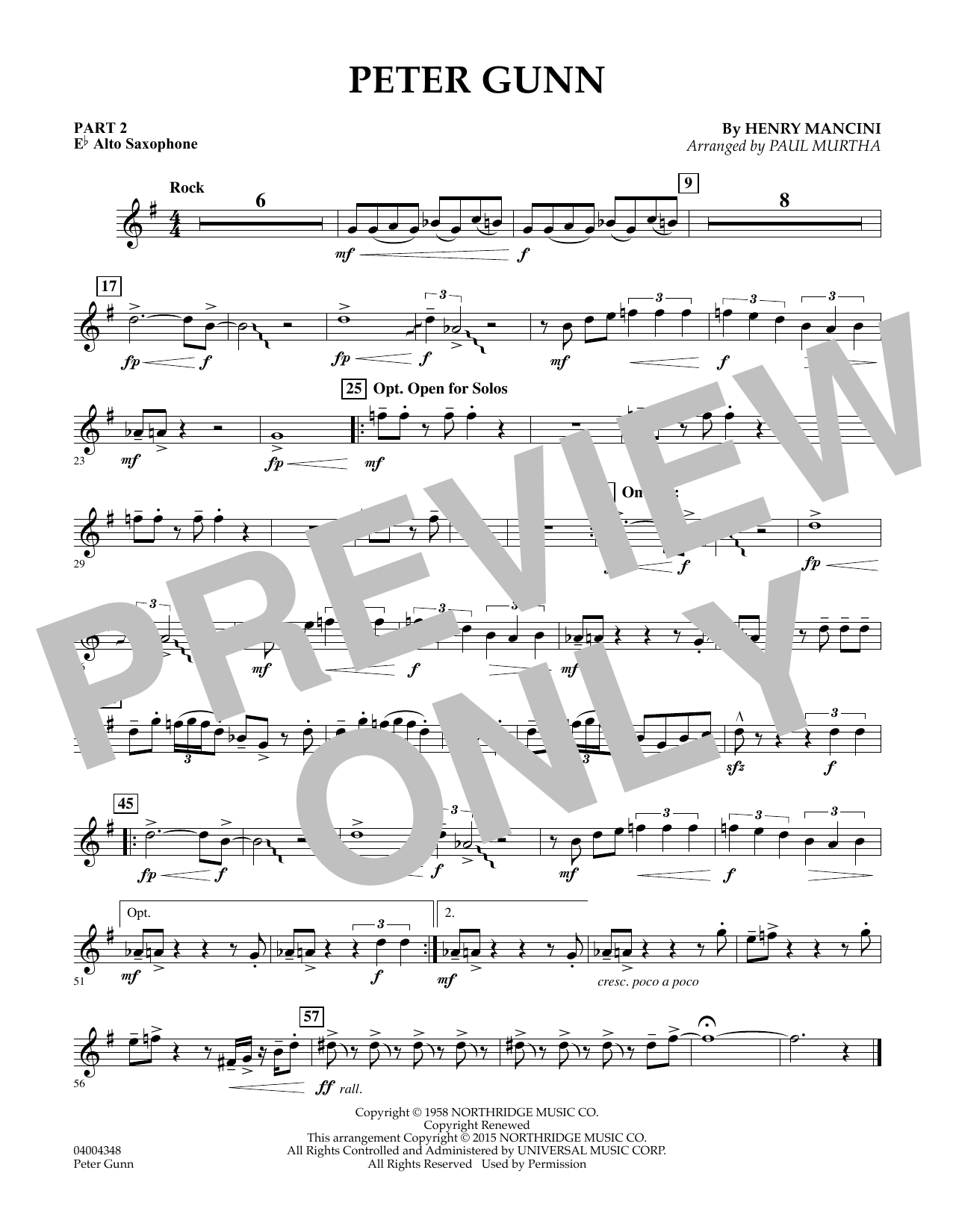 Peter Gunn - Pt.2 - Eb Alto Saxophone (Flex-Band)