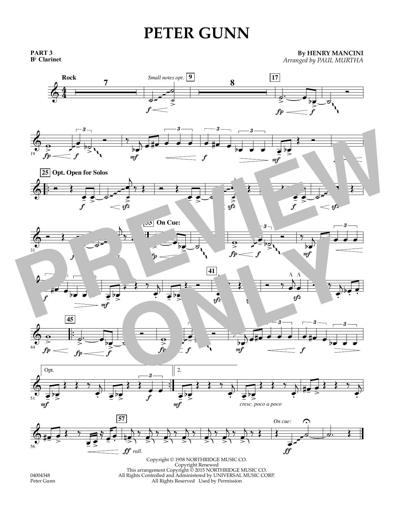 Peter Gunn - Pt.3 - Bb Clarinet (Flex-Band)