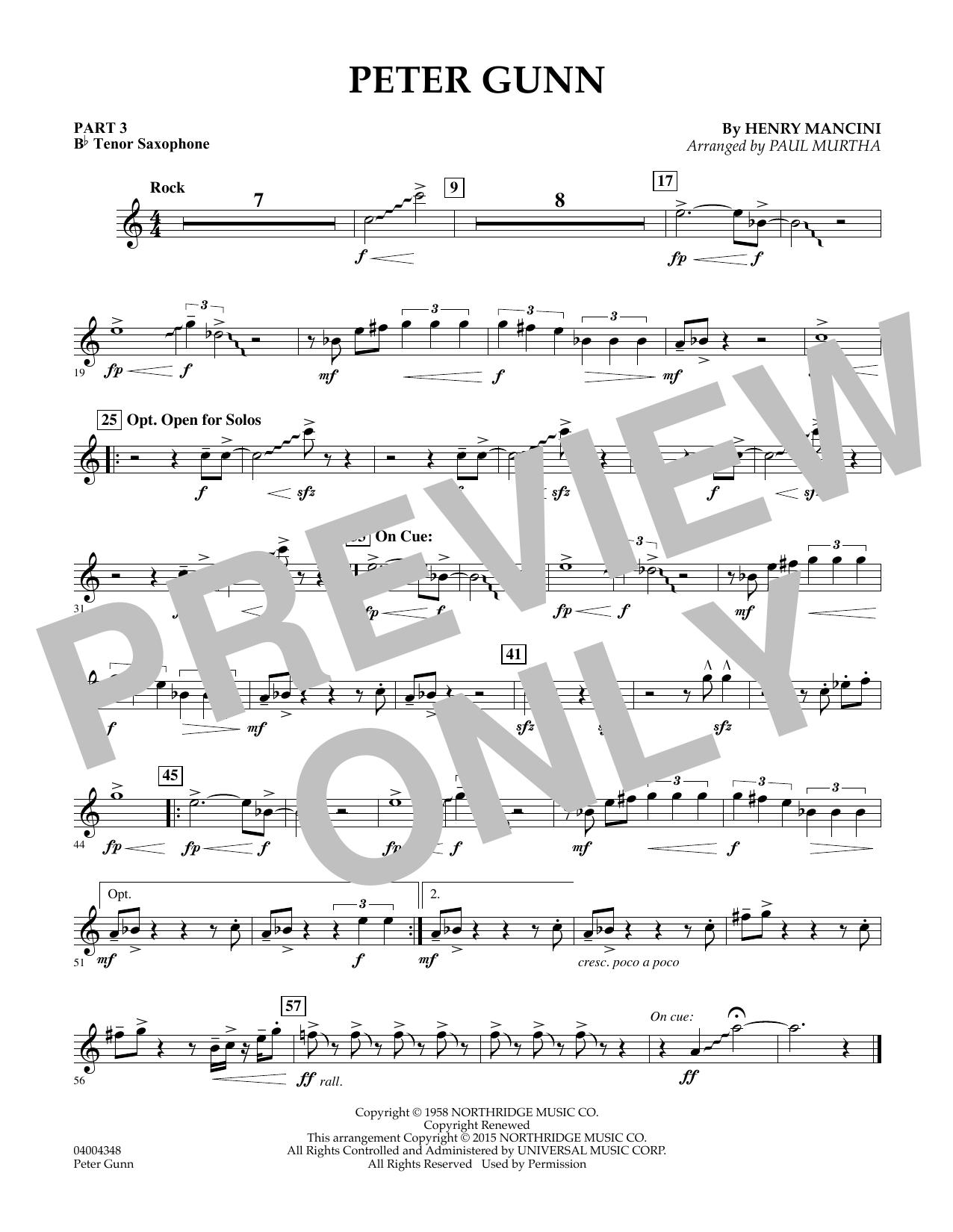 Peter Gunn - Pt.3 - Bb Tenor Saxophone (Flex-Band)