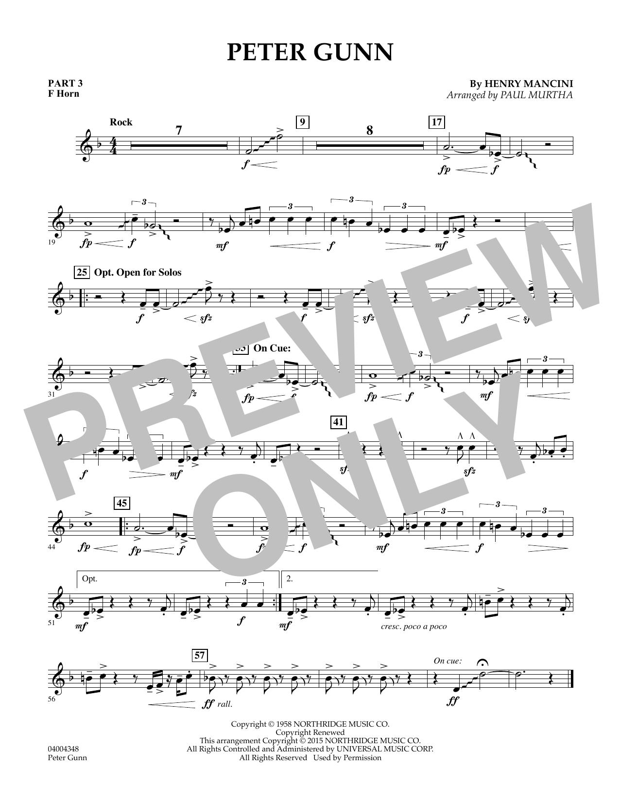 Peter Gunn - Pt.3 - F Horn (Flex-Band)