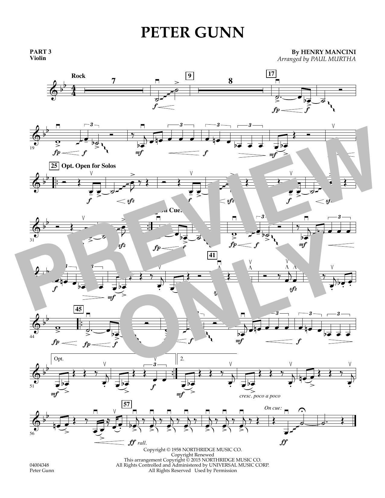 Peter Gunn - Pt.3 - Violin (Flex-Band)