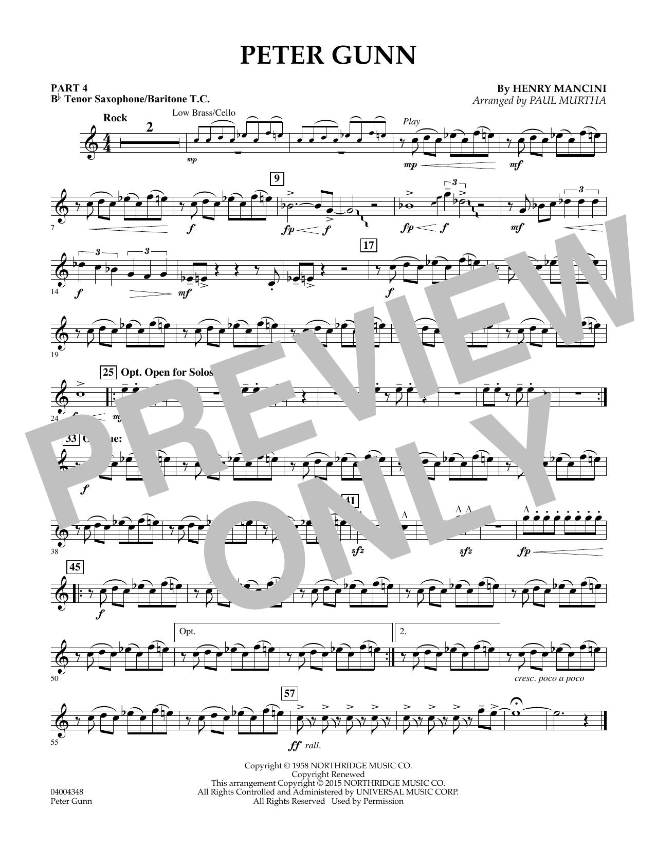 Peter Gunn - Pt.4 - Bb Tenor Sax/Bar. T.C. (Flex-Band)