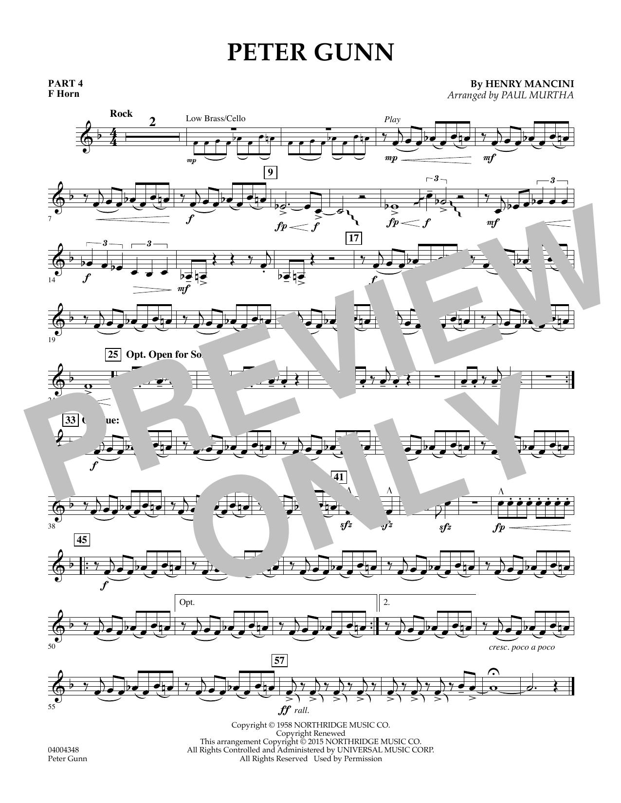 Peter Gunn - Pt.4 - F Horn (Flex-Band)
