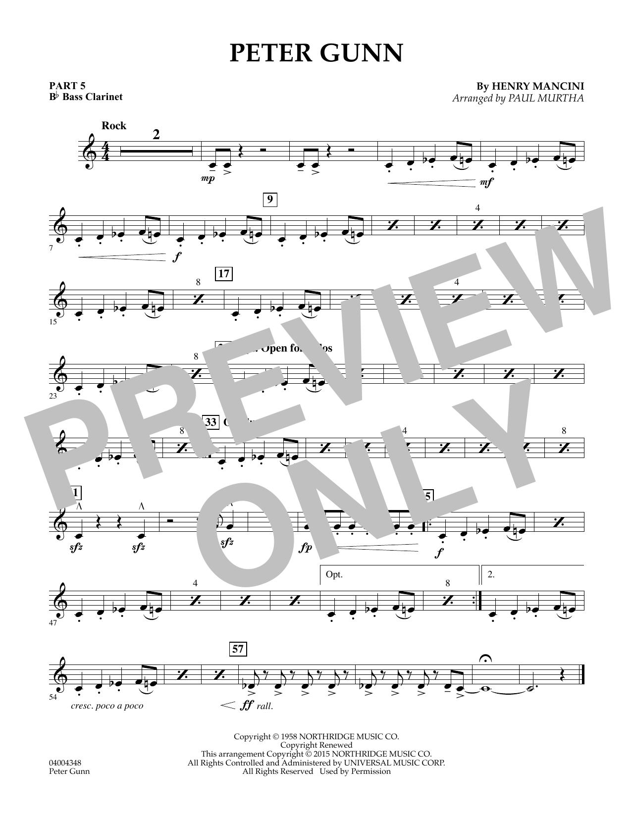 Peter Gunn - Pt.5 - Bb Bass Clarinet (Flex-Band)