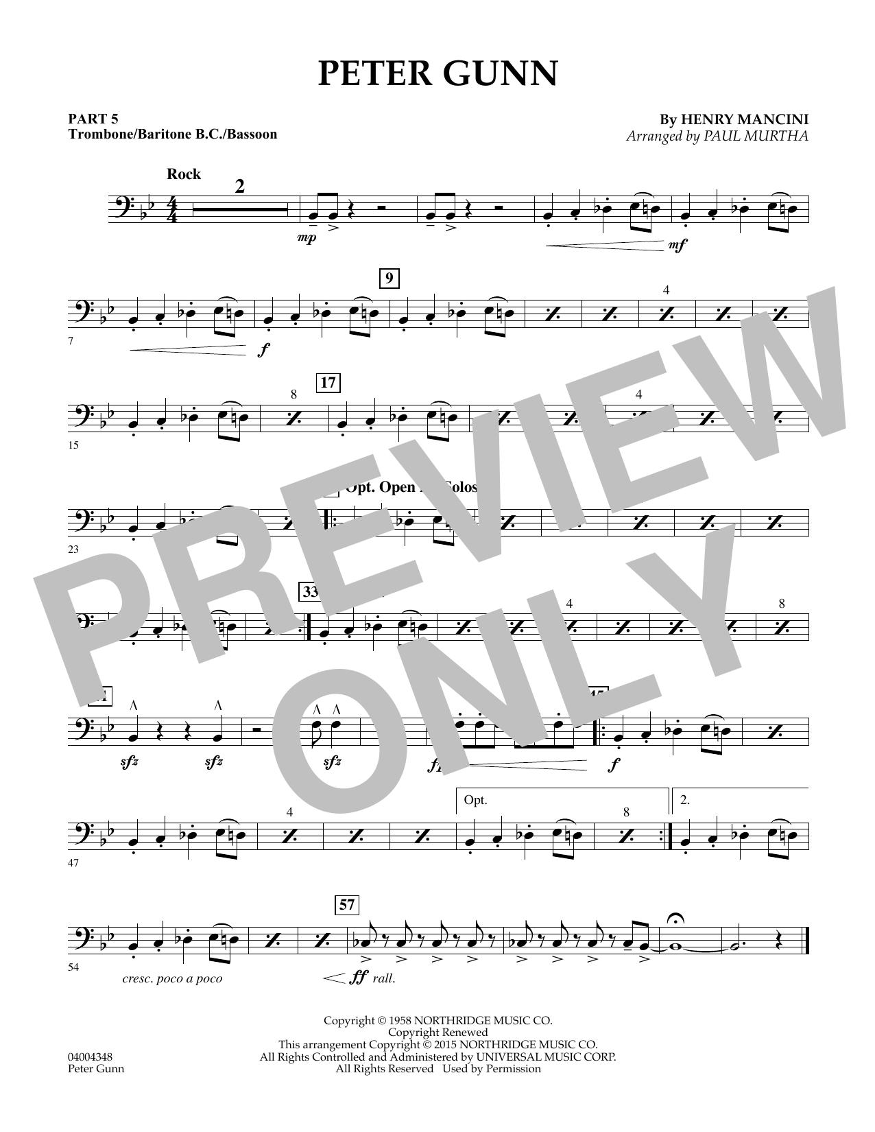 Peter Gunn - Pt.5 - Trombone/Bar. B.C./Bsn. (Flex-Band)
