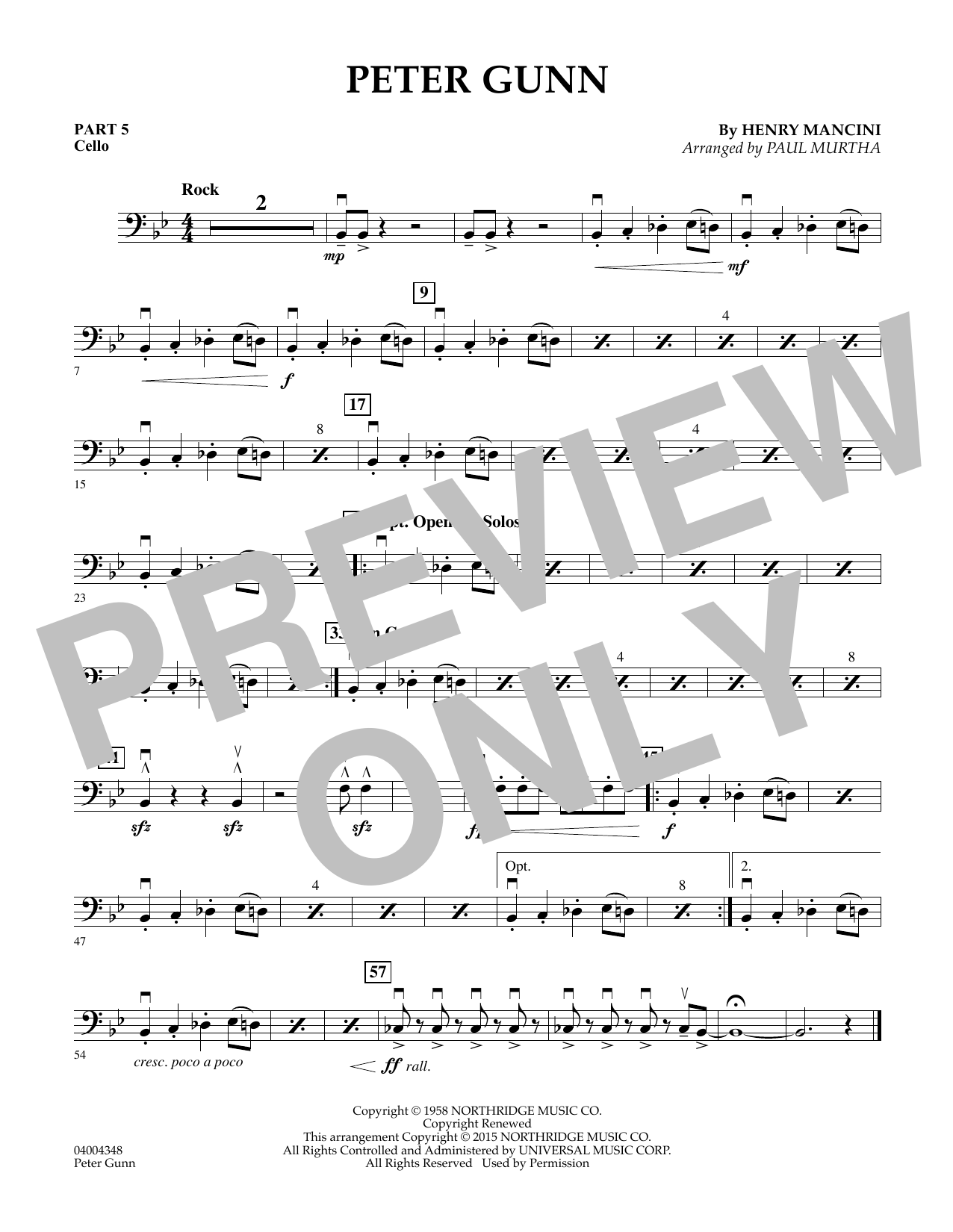Peter Gunn - Pt.5 - Cello (Flex-Band)