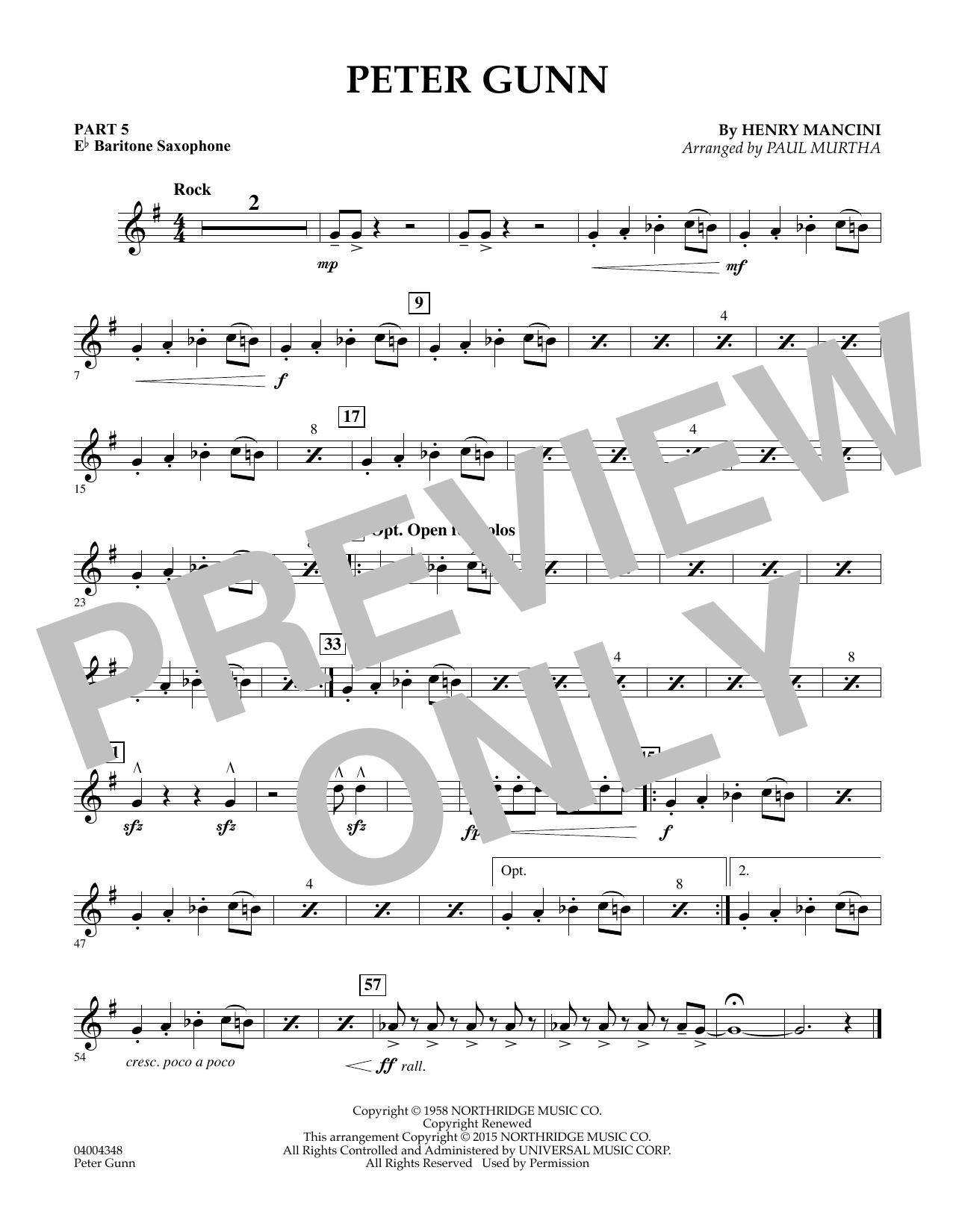 Peter Gunn - Pt.5 - Eb Baritone Saxophone (Flex-Band)