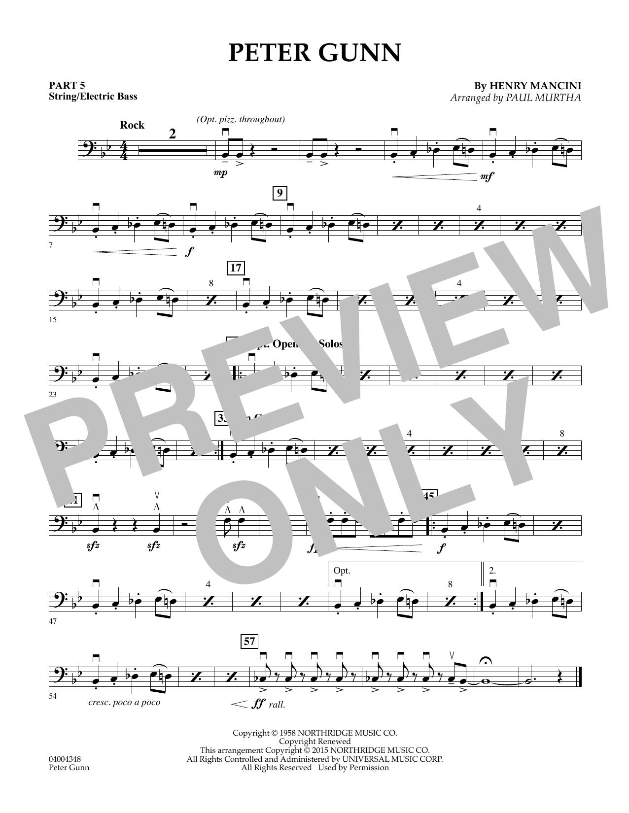 Peter Gunn - Pt.5 - String/Electric Bass (Concert Band: Flex-Band)