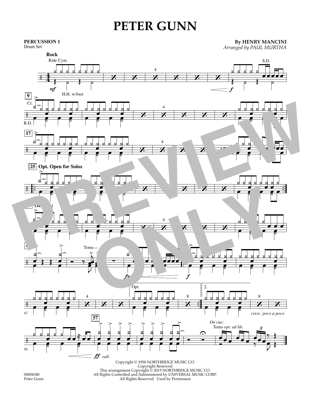 Peter Gunn - Percussion 1 (Flex-Band)