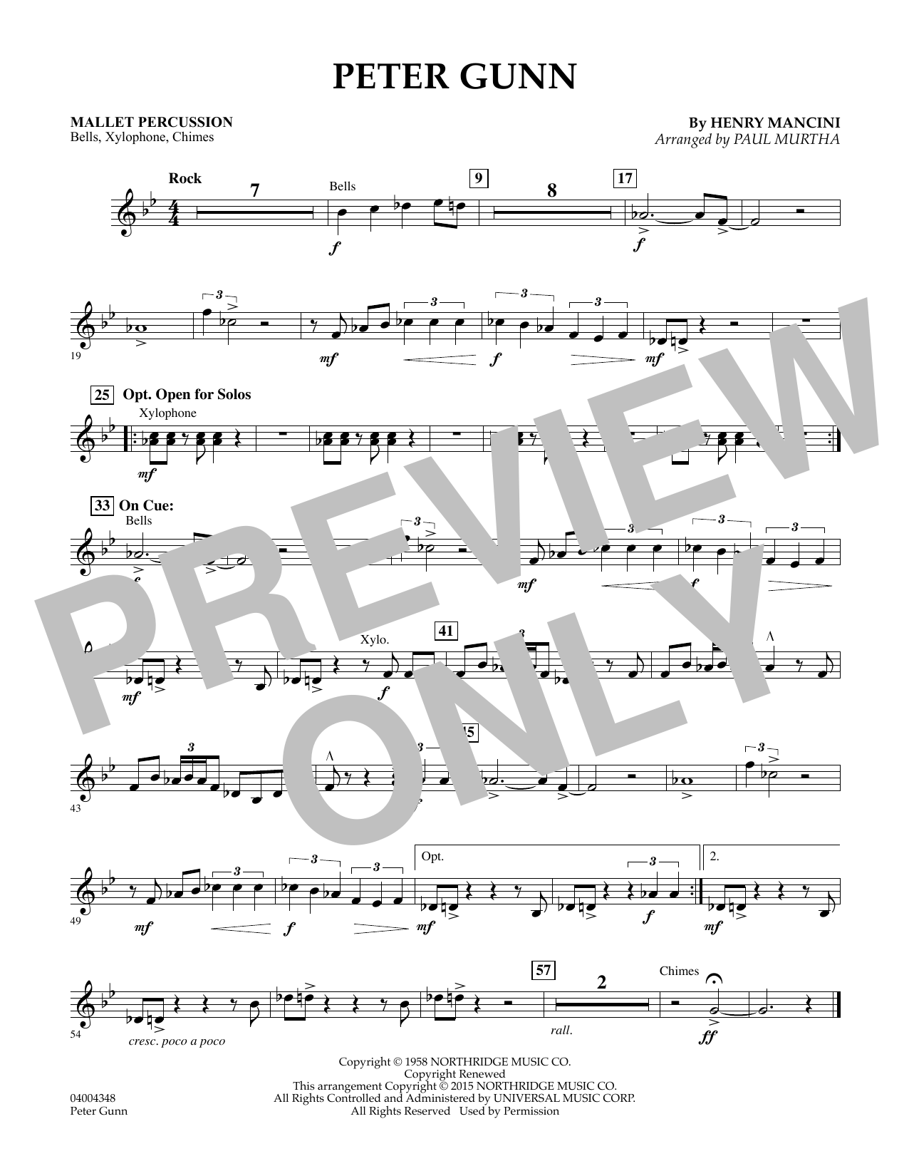 Peter Gunn - Mallet Percussion (Flex-Band)