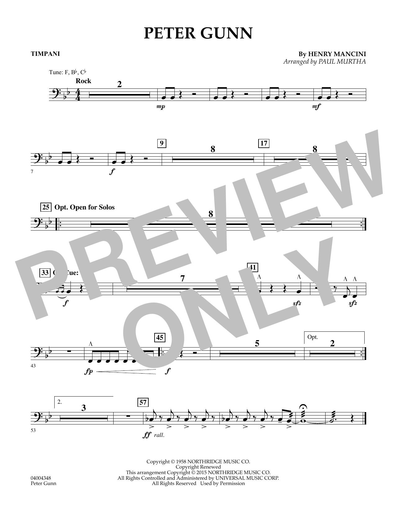 Peter Gunn - Timpani (Flex-Band)