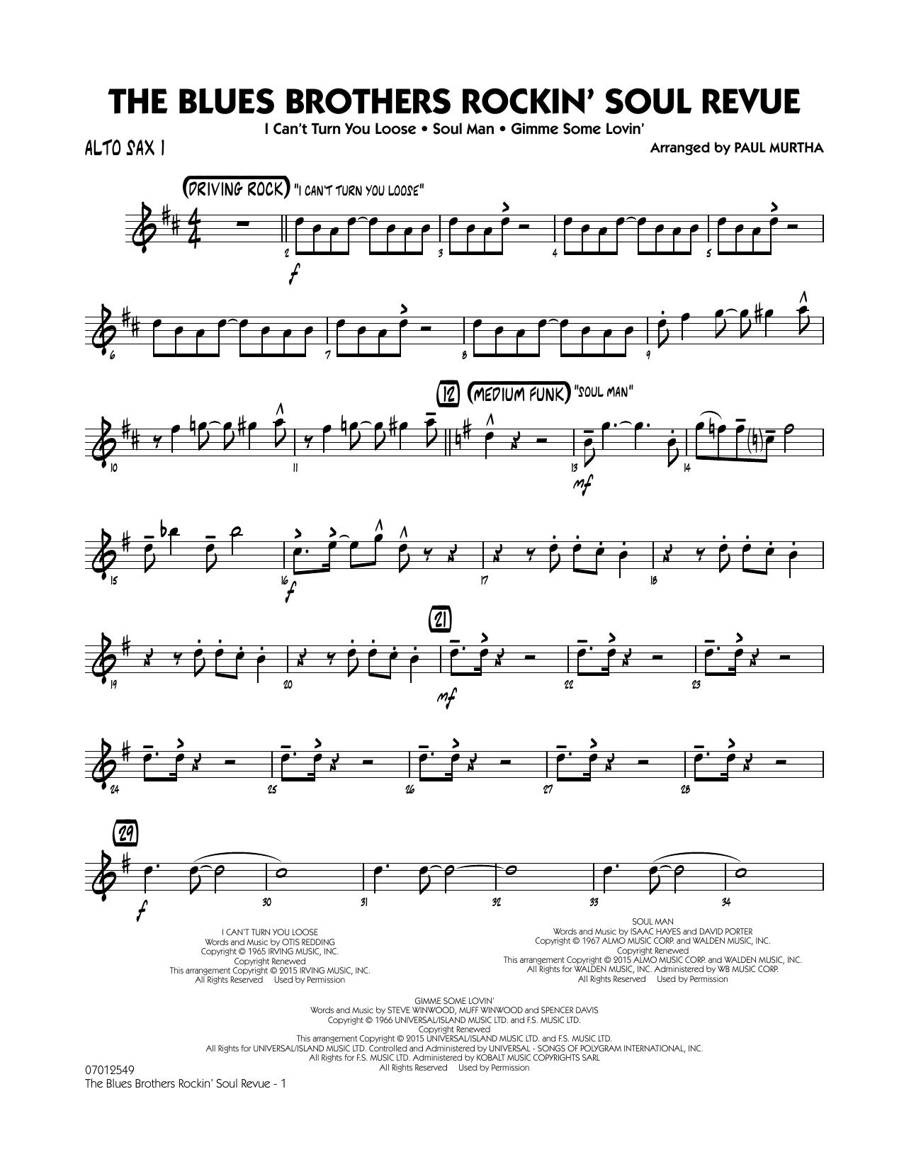 The Blues Brothers Rockin' Soul Revue - Alto Sax 1 (Jazz Ensemble)