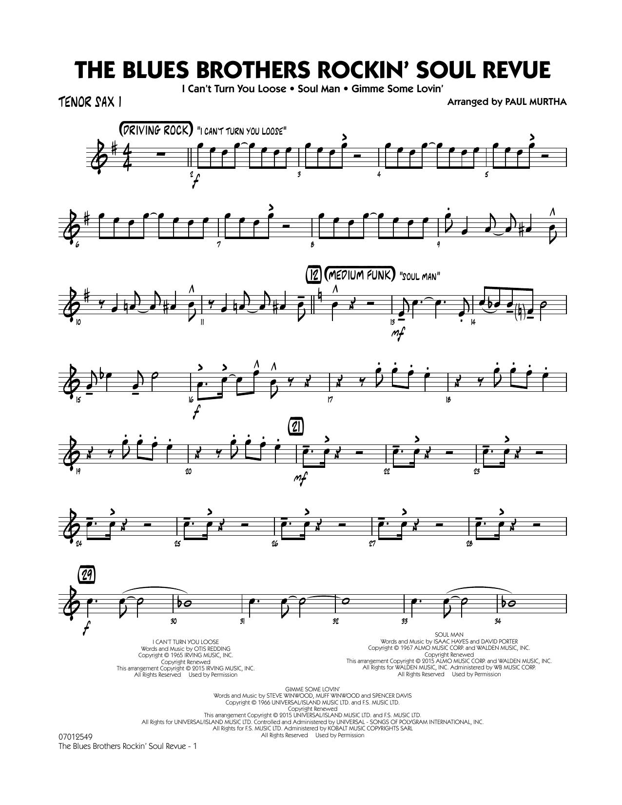 The Blues Brothers Rockin' Soul Revue - Tenor Sax 1 (Jazz Ensemble)