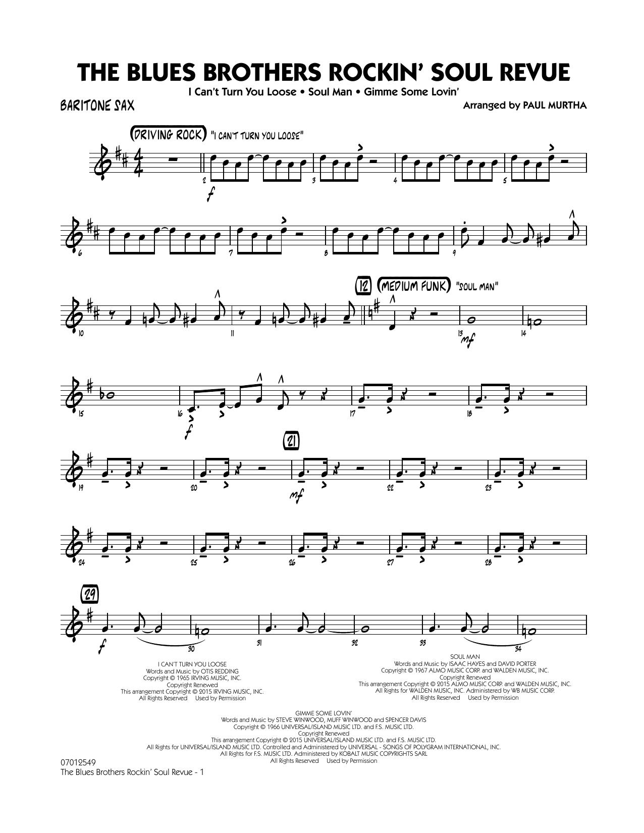 The Blues Brothers Rockin' Soul Revue - Baritone Sax (Jazz Ensemble)