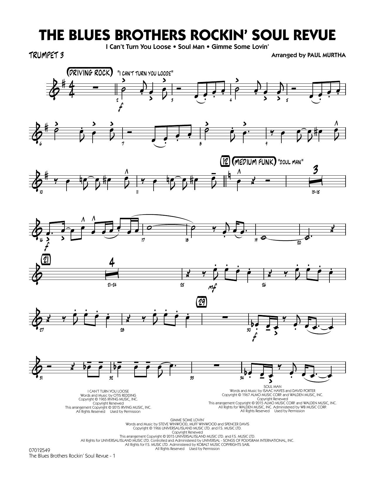 The Blues Brothers Rockin' Soul Revue - Trumpet 3 (Jazz Ensemble)