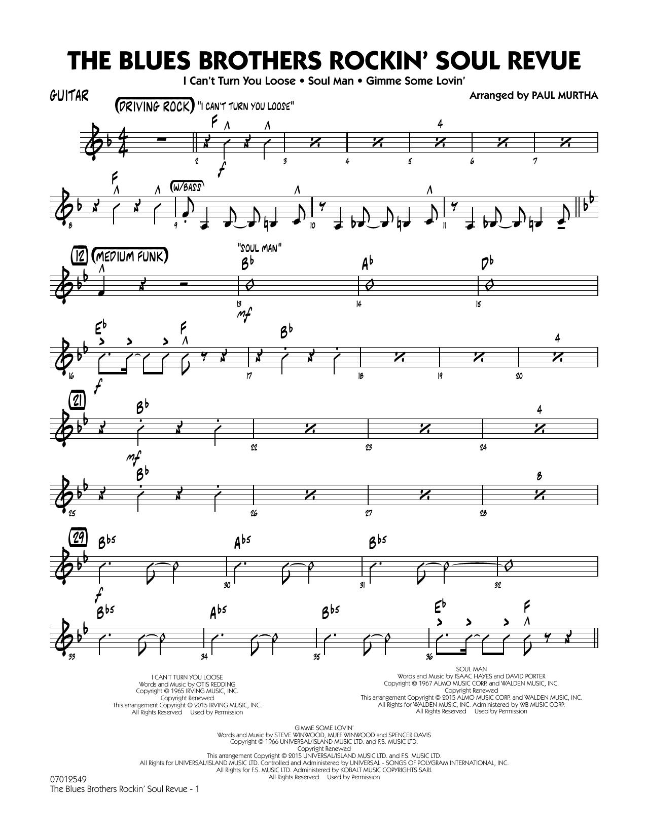 The Blues Brothers Rockin' Soul Revue - Guitar (Jazz Ensemble)