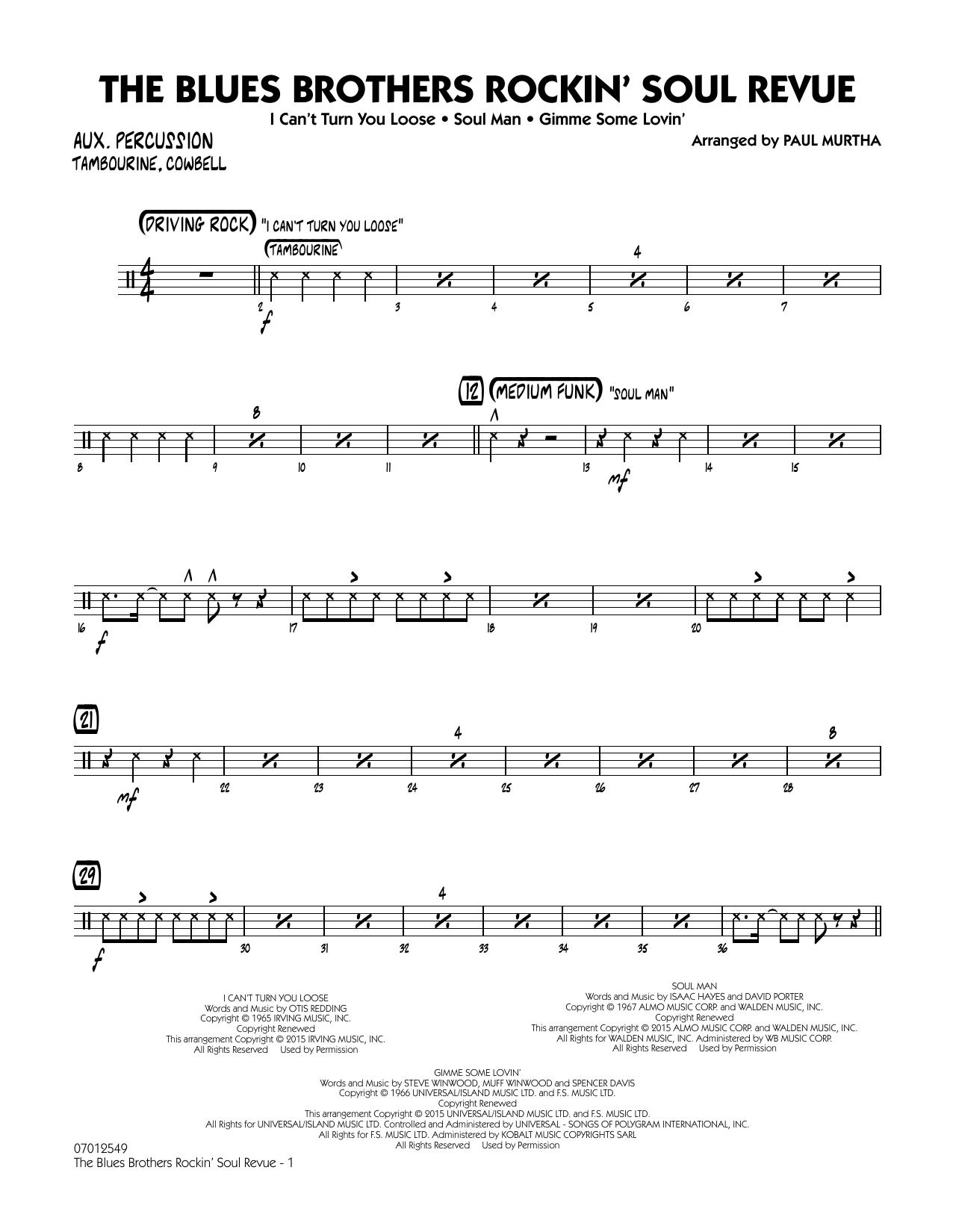The Blues Brothers Rockin' Soul Revue - Aux Percussion (Jazz Ensemble)