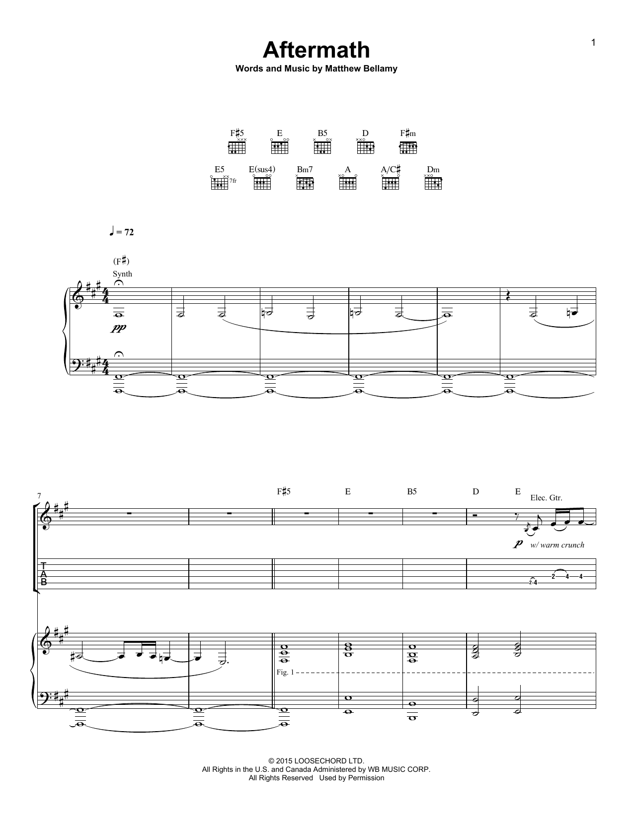 Aftermath Sheet Music