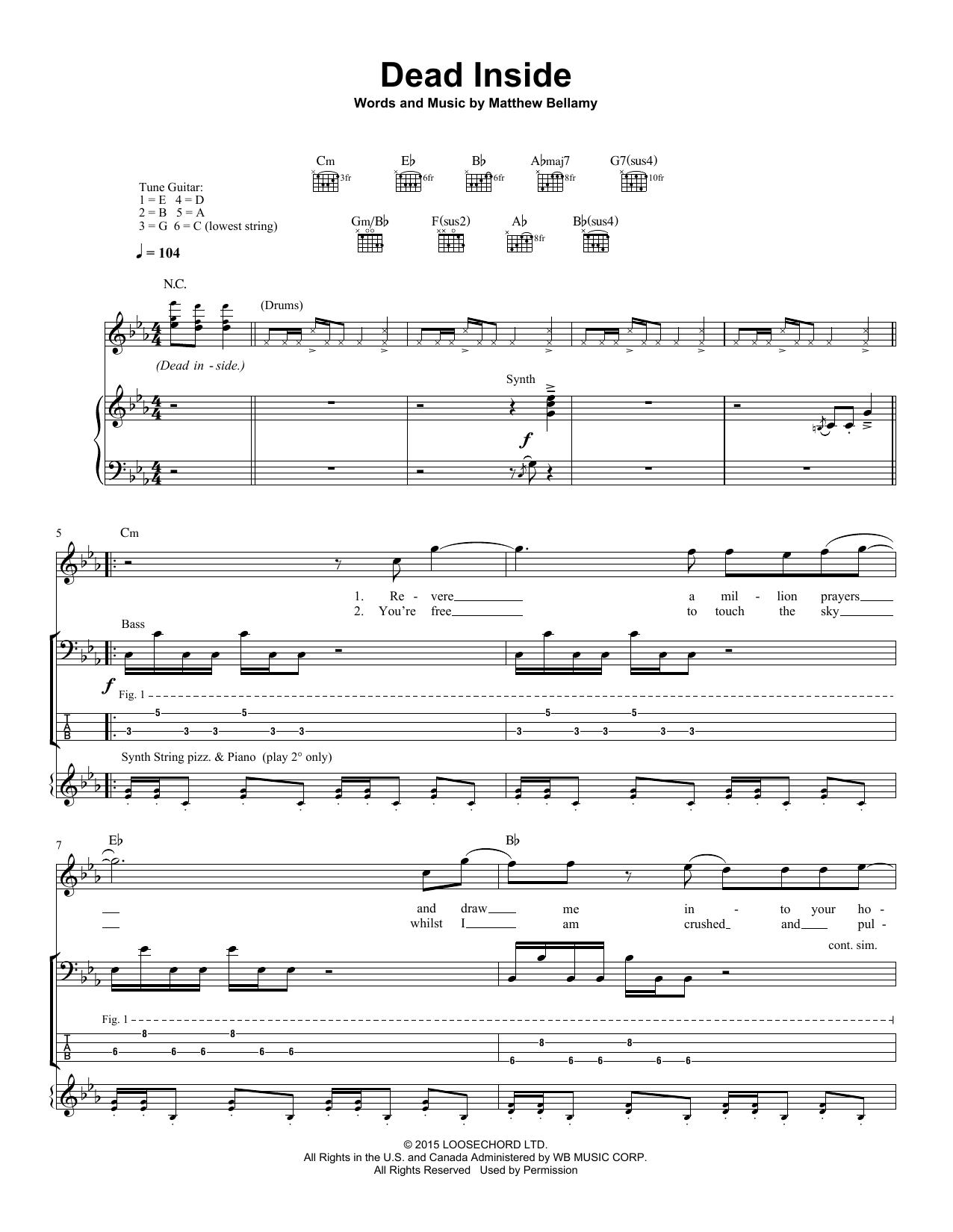 Dead Inside Sheet Music