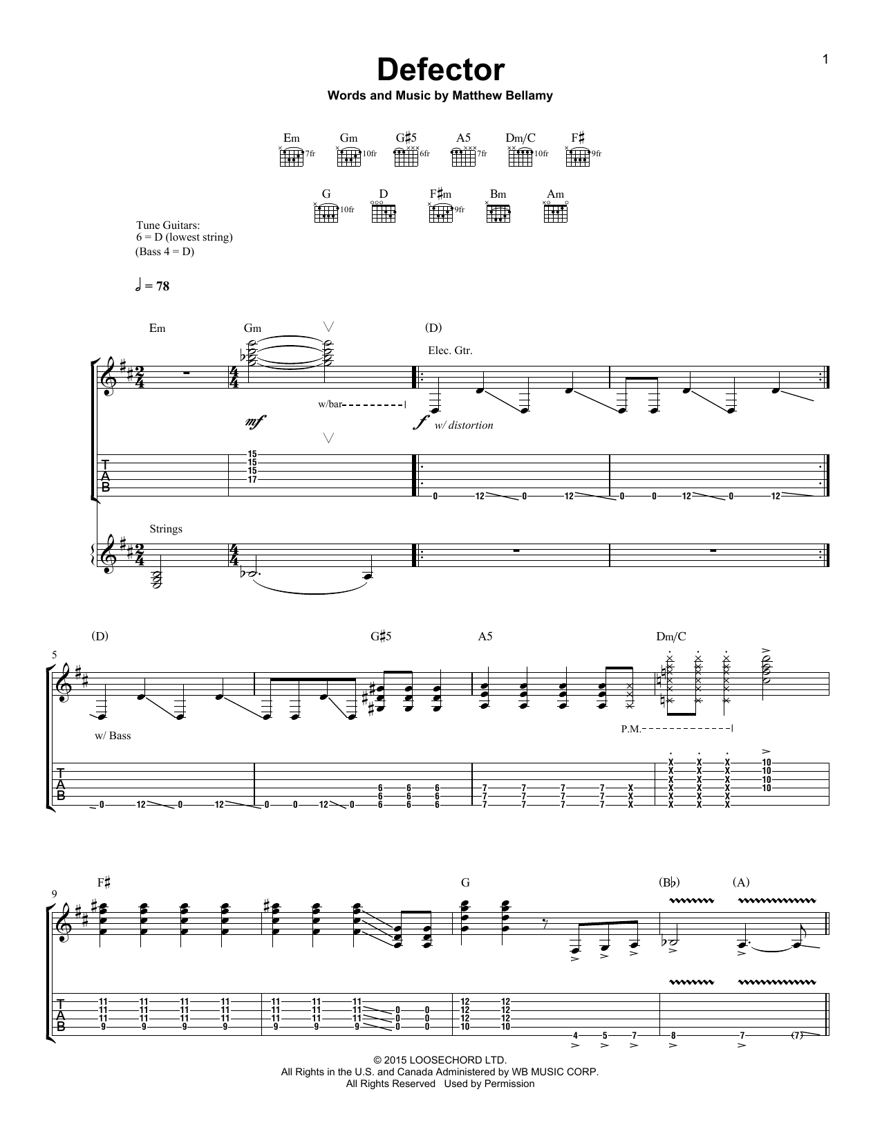 Defector Sheet Music