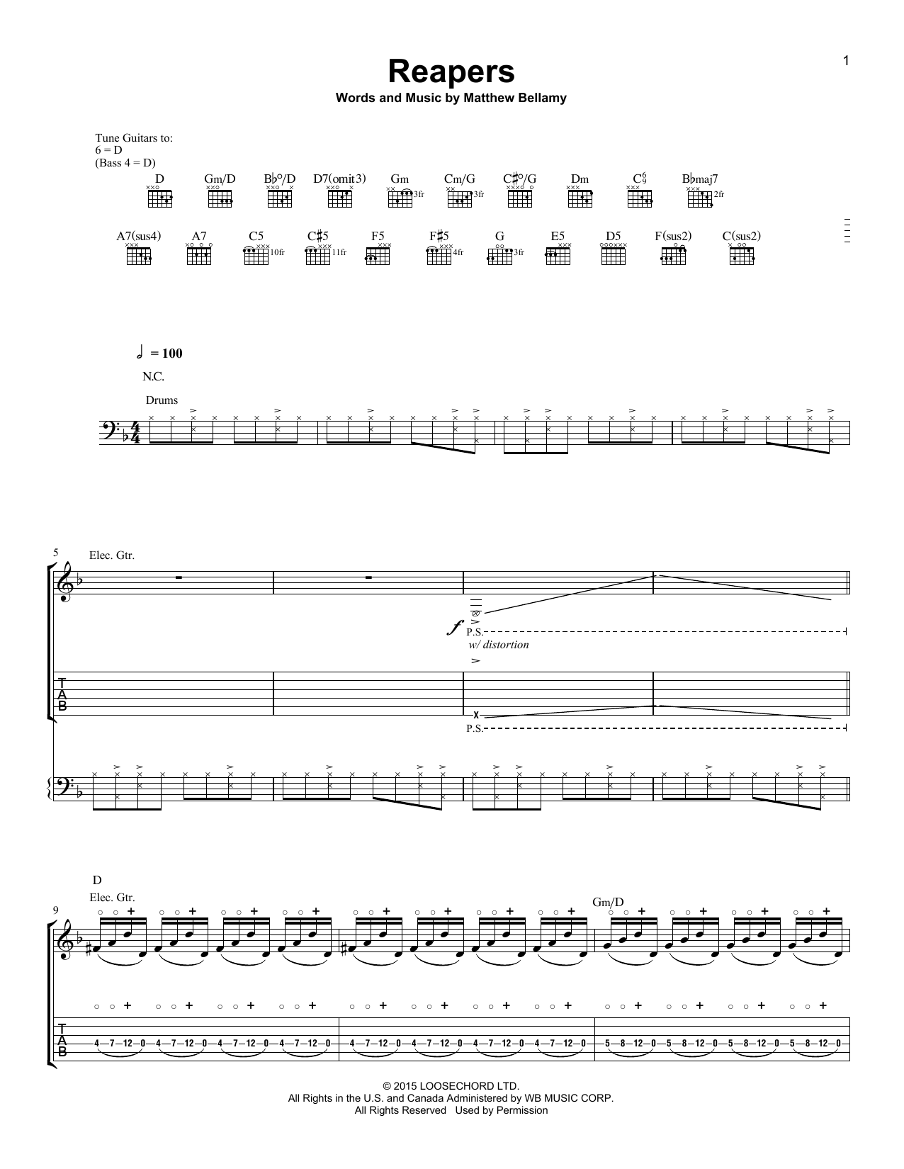 Reapers Sheet Music