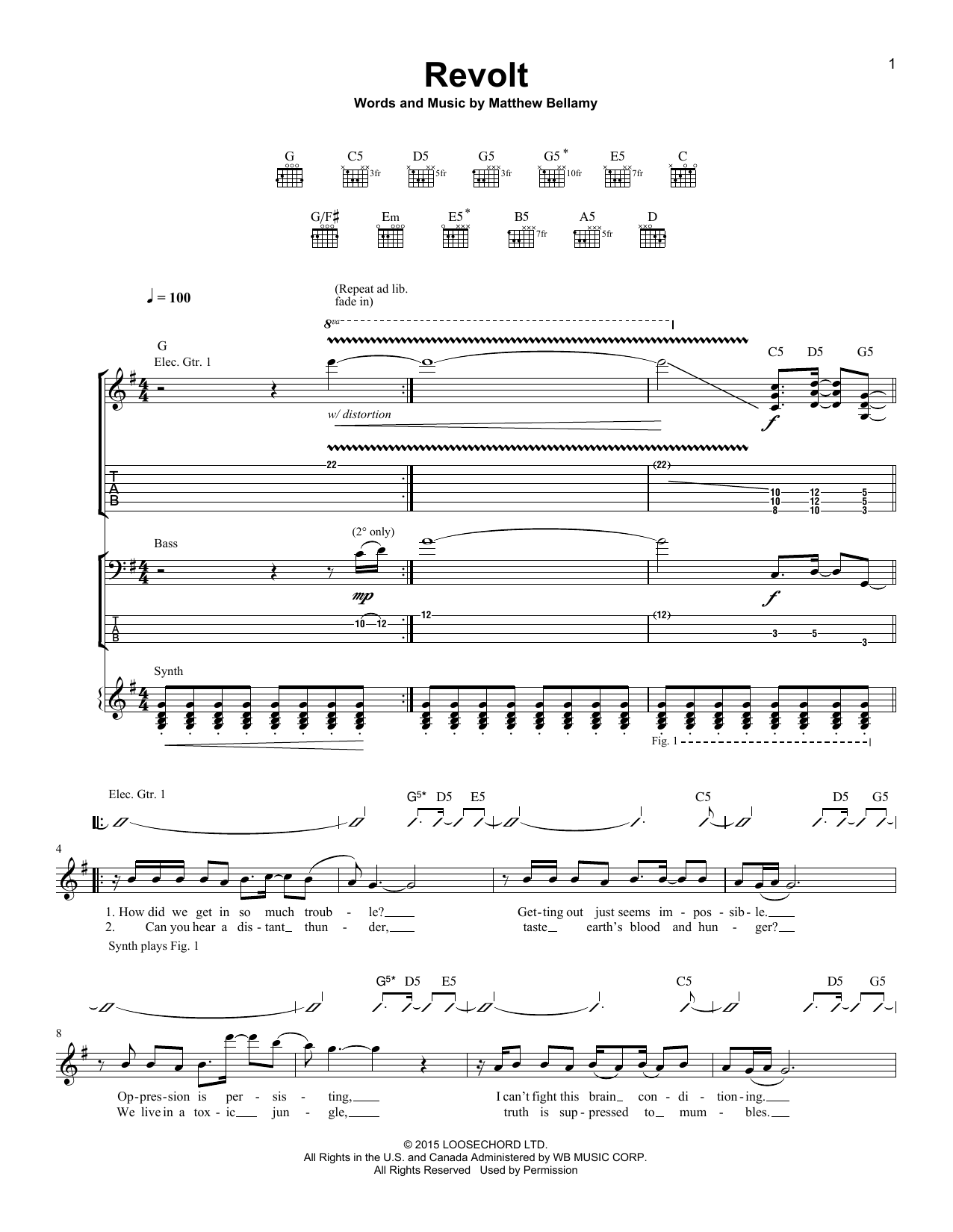 Revolt Sheet Music