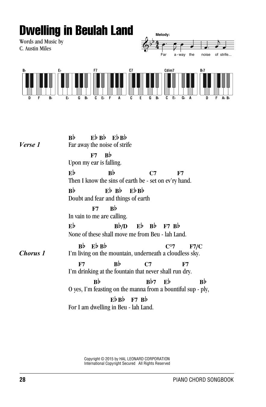 Dwelling In Beulah Land Sheet Music