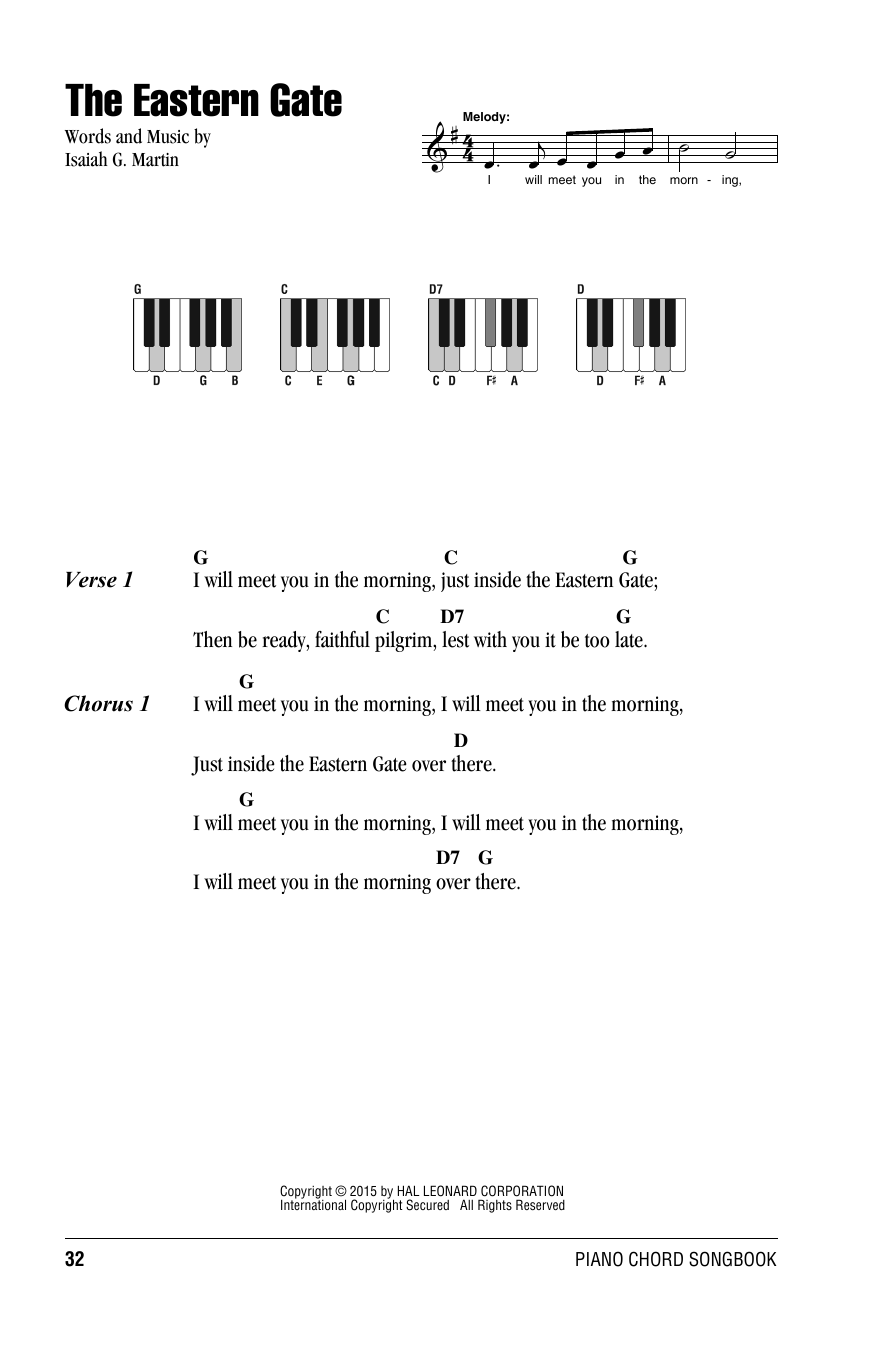 The Eastern Gate Sheet Music