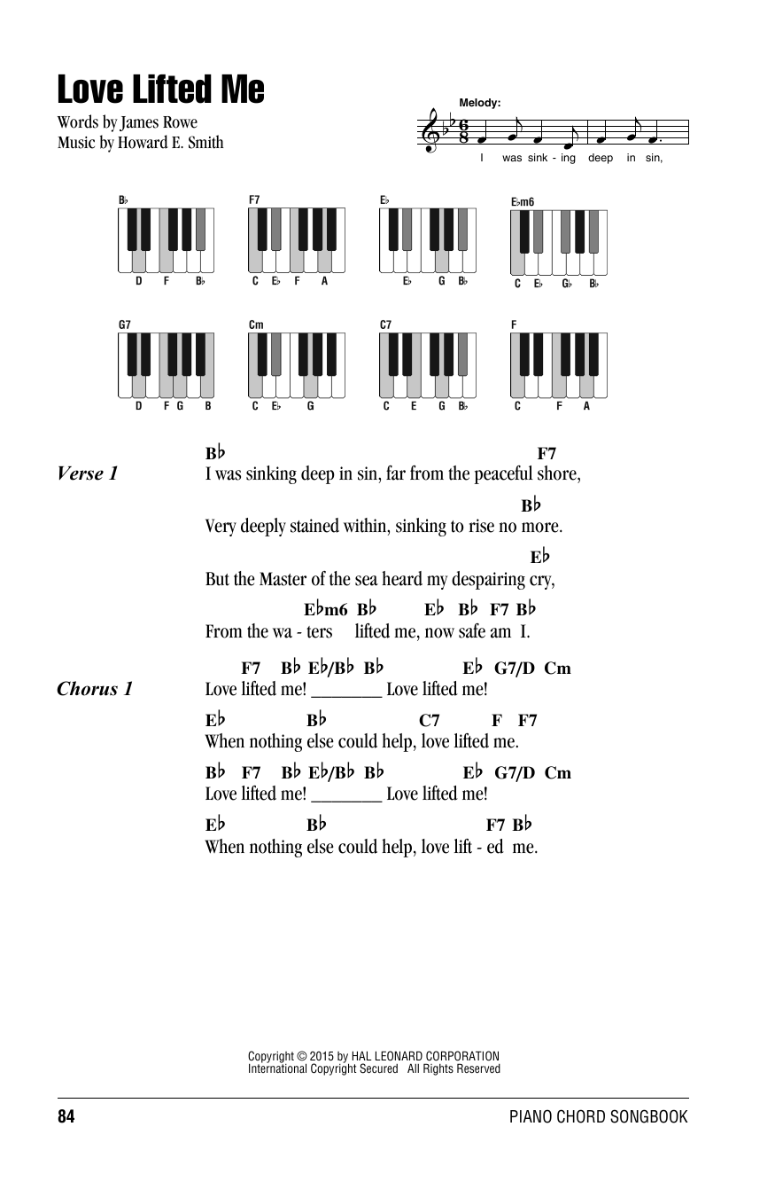 Love Lifted Me Sheet Music