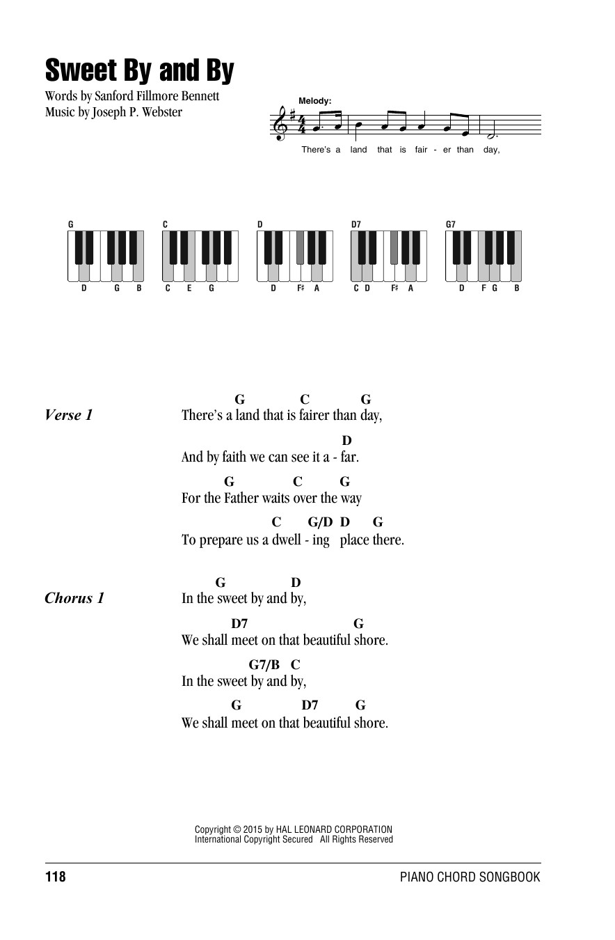 Sweet By And By Sheet Music