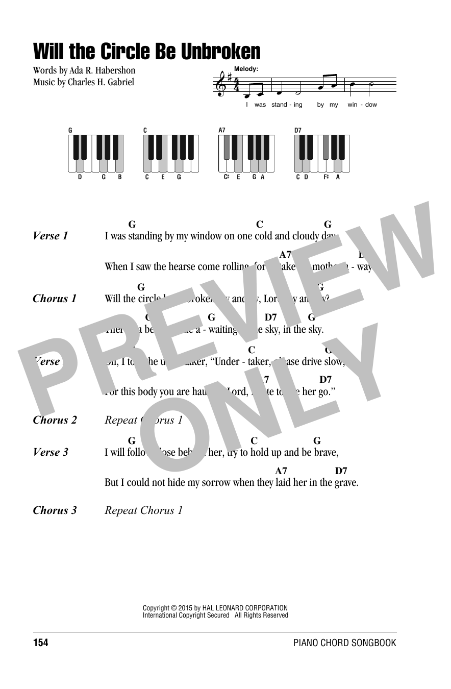 Will the circle be unbroken sheet music direct sheet preview hexwebz Gallery