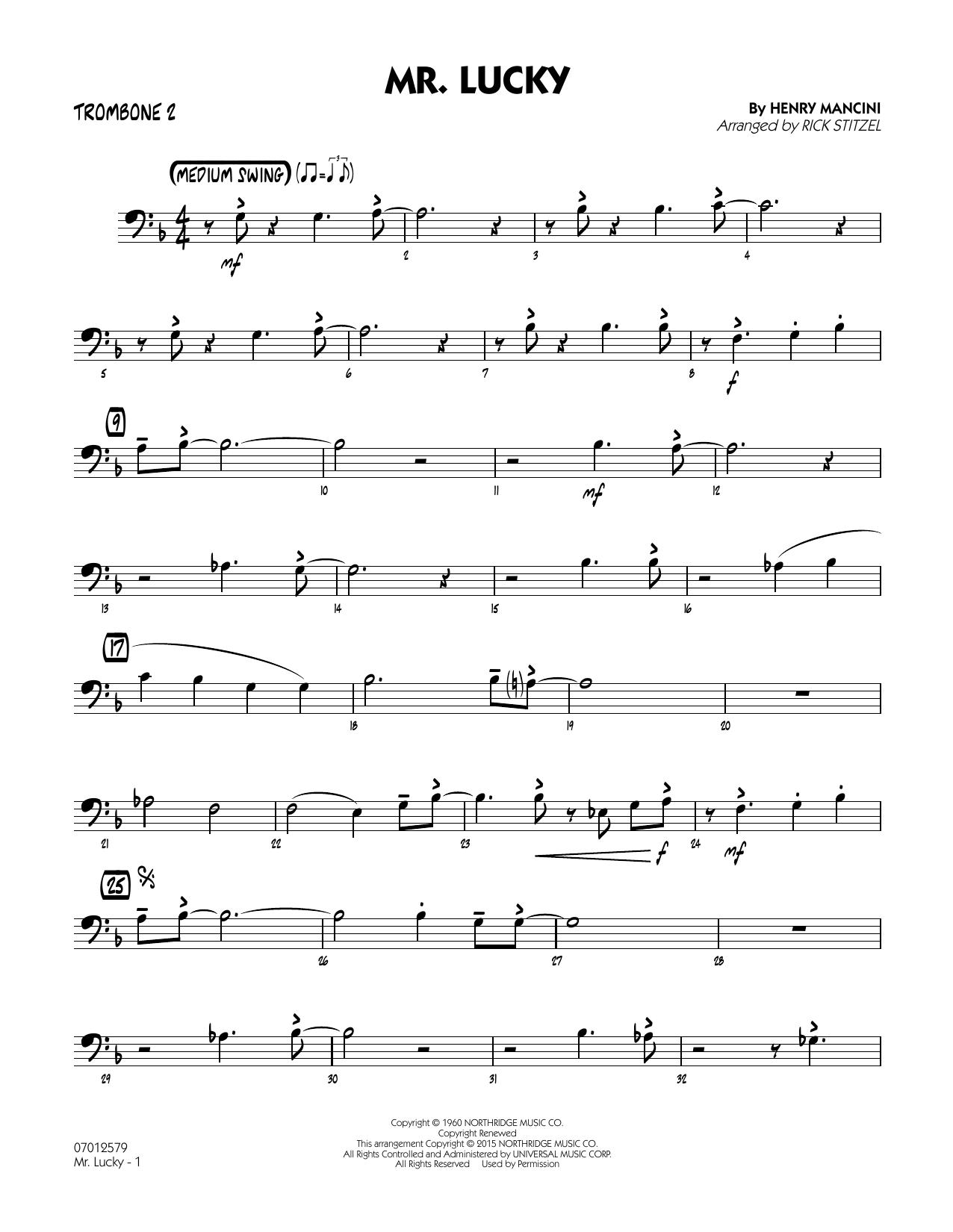 Mr. Lucky - Trombone 2 (Jazz Ensemble)