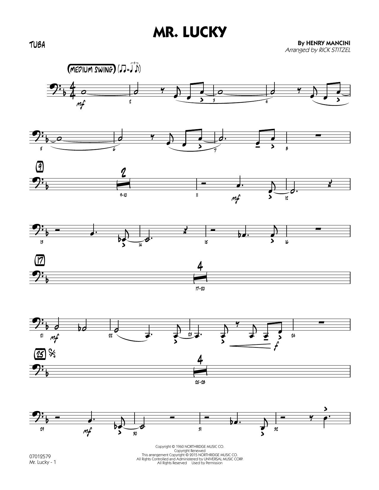 Mr. Lucky - Tuba (Jazz Ensemble)