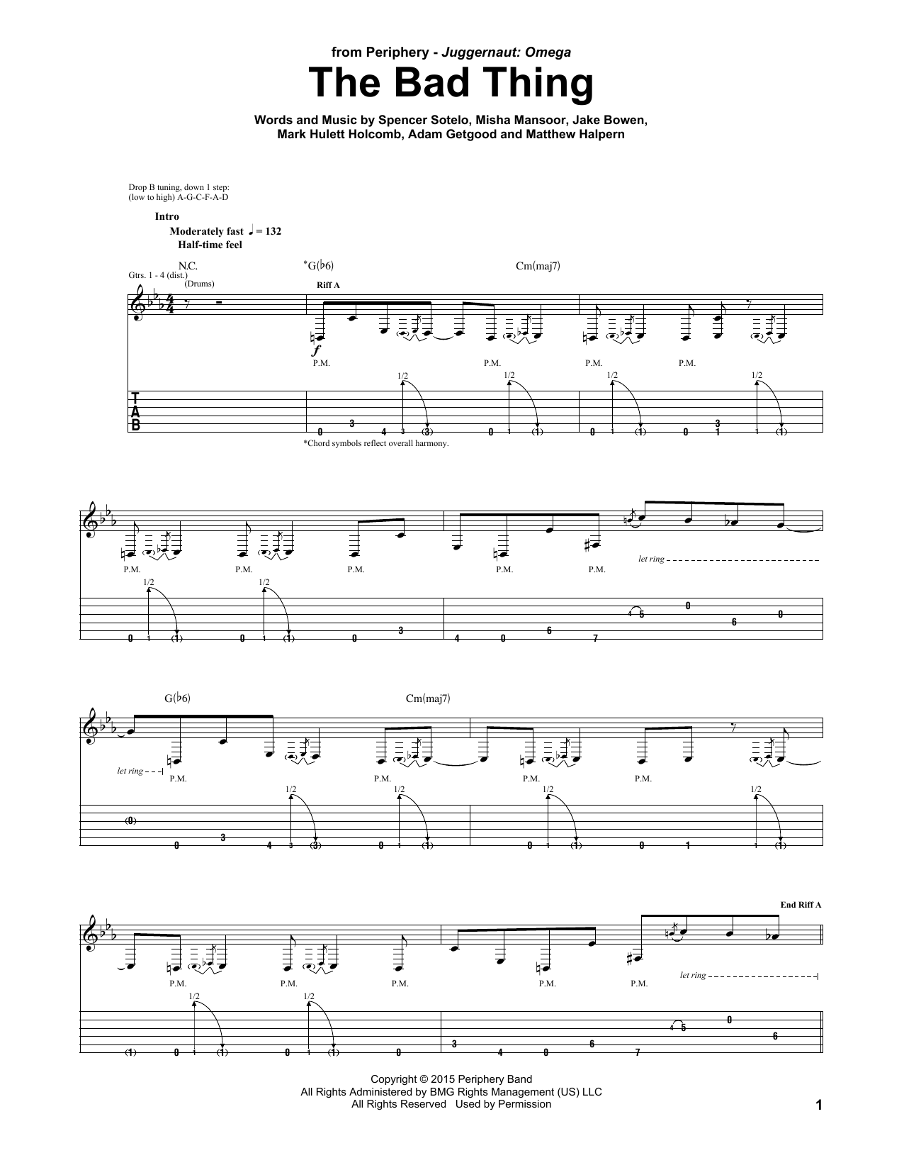 The Bad Thing Sheet Music