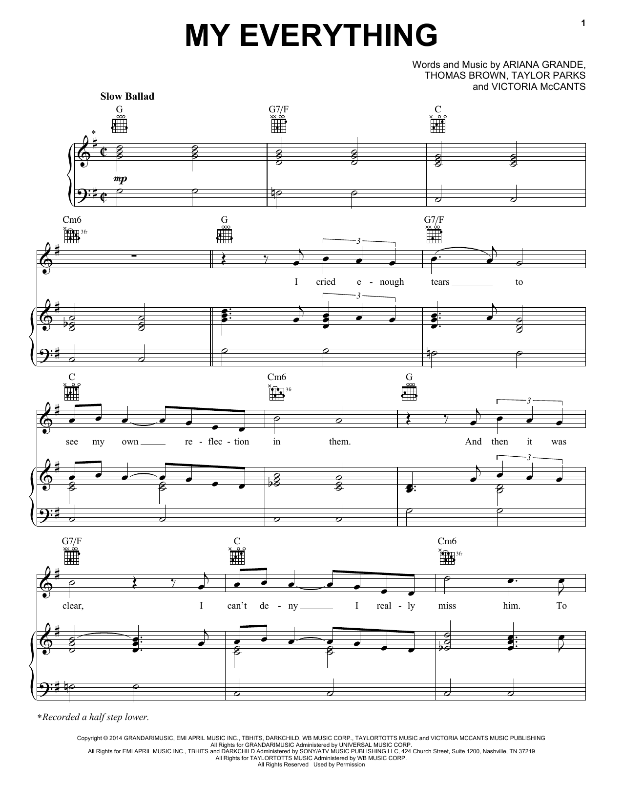 My Everything Sheet Music