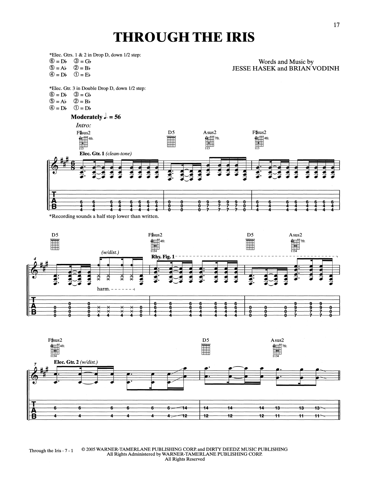 Through The Iris Sheet Music