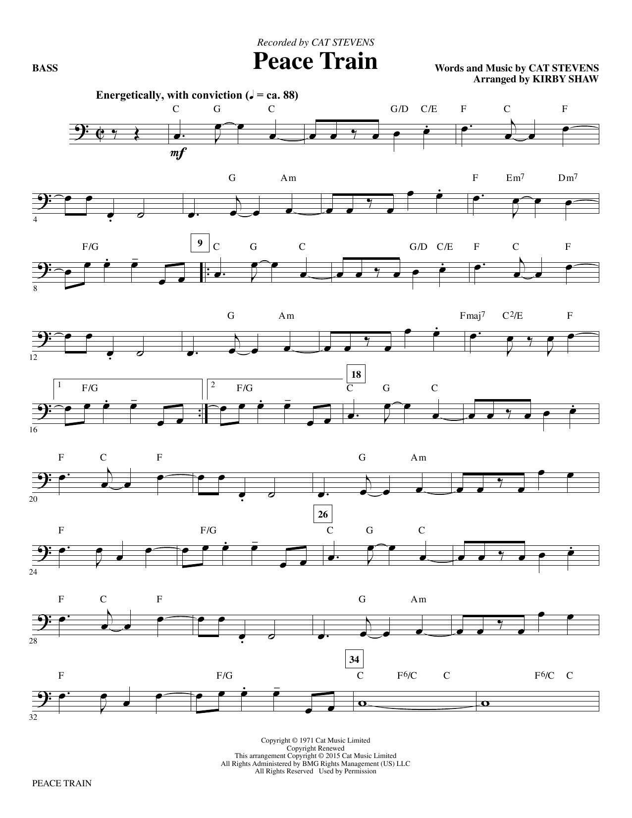 Peace Train - Bass (Choir Instrumental Pak)