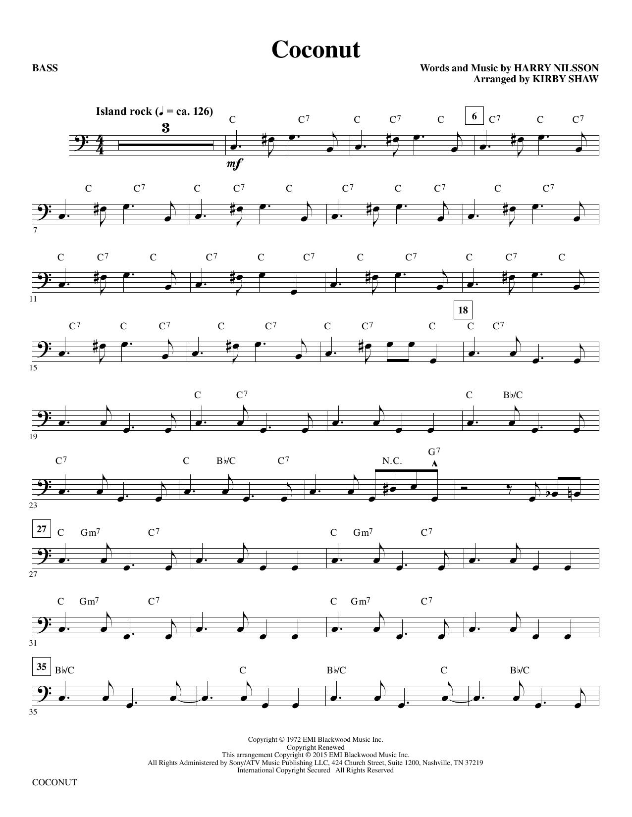 Coconut - Bass (Choir Instrumental Pak)