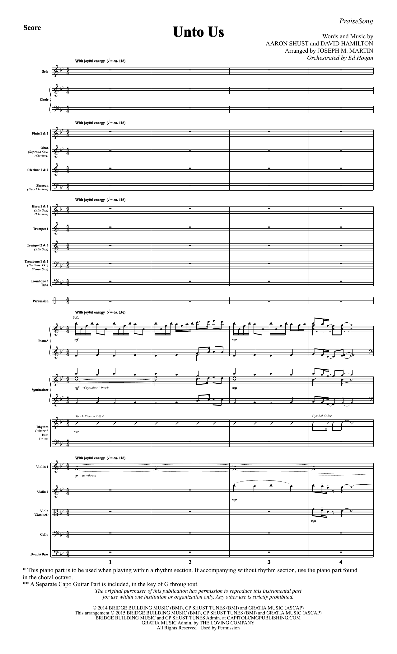 Unto Us - Full Score Sheet Music