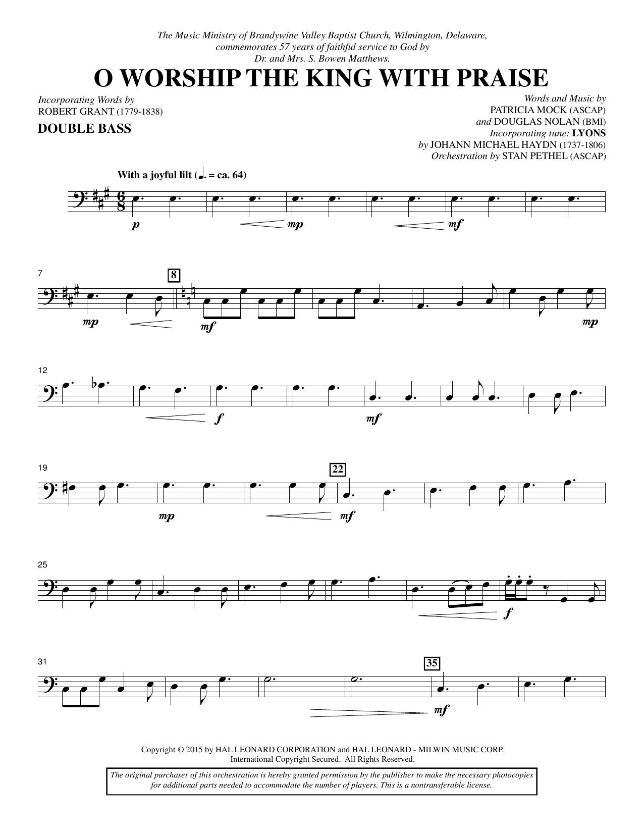 O Worship the King with Praise - Double Bass (Choir Instrumental Pak)