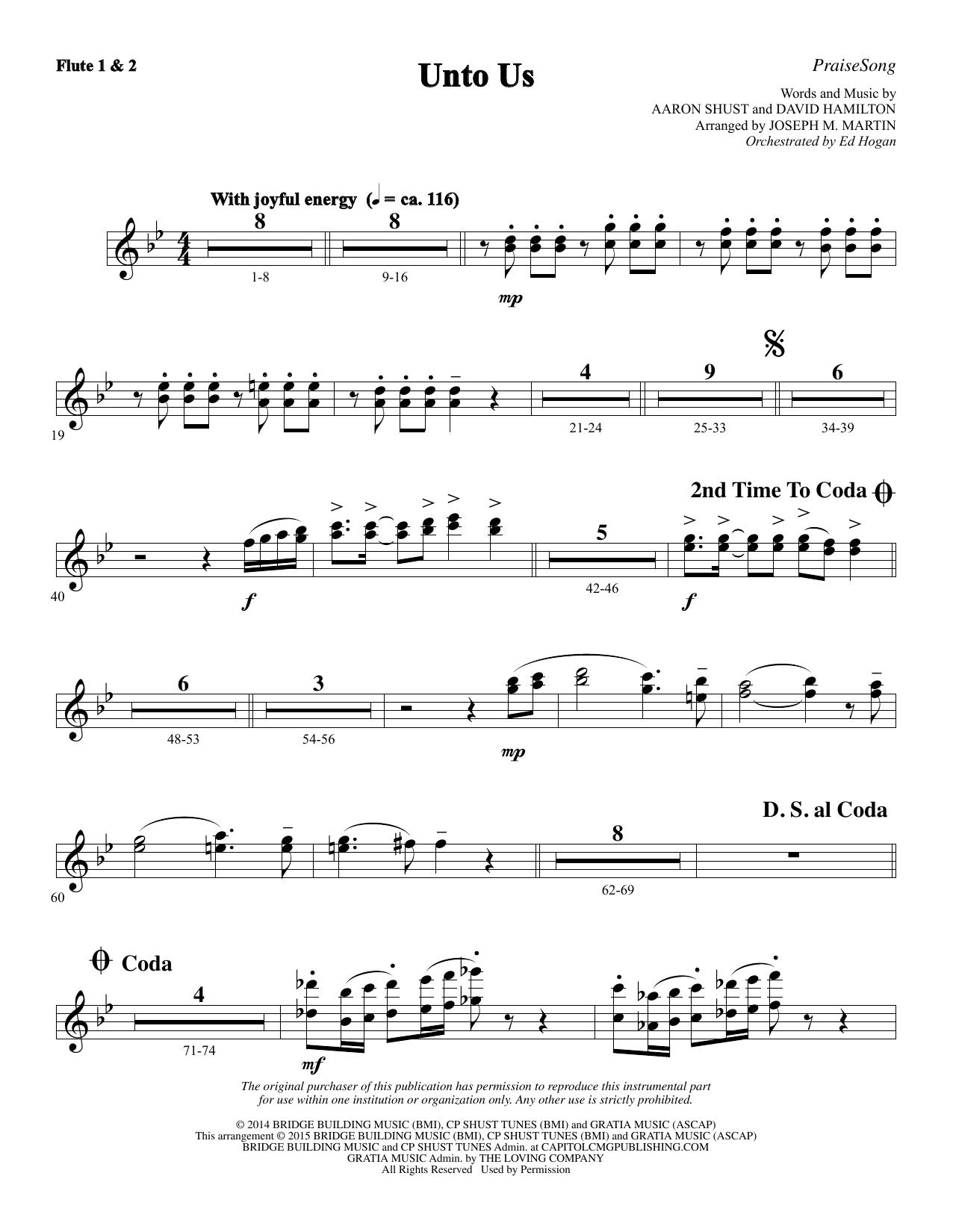 Unto Us - Flute 1 & 2 (Choir Instrumental Pak)