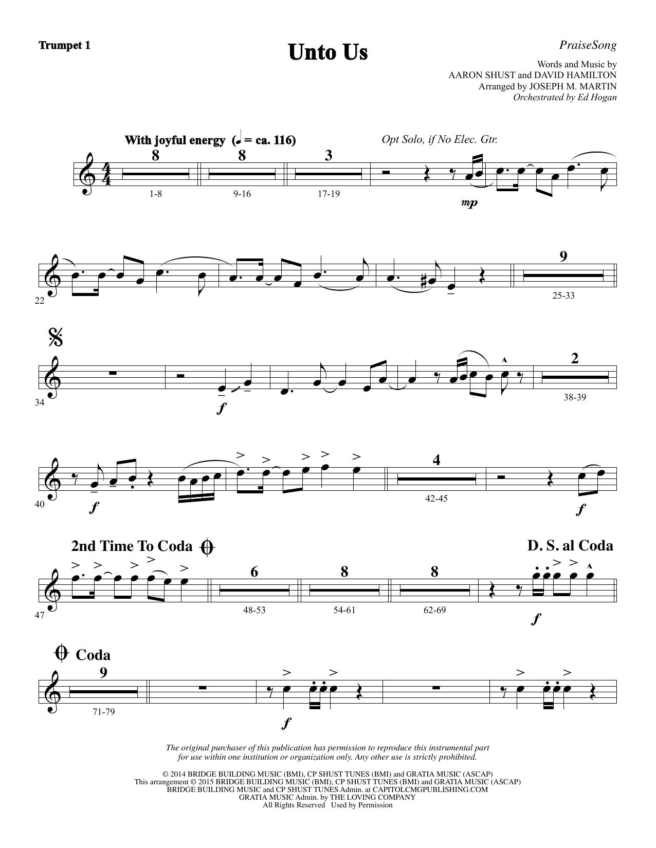 Unto Us - Bb Trumpet 1 (Choir Instrumental Pak)