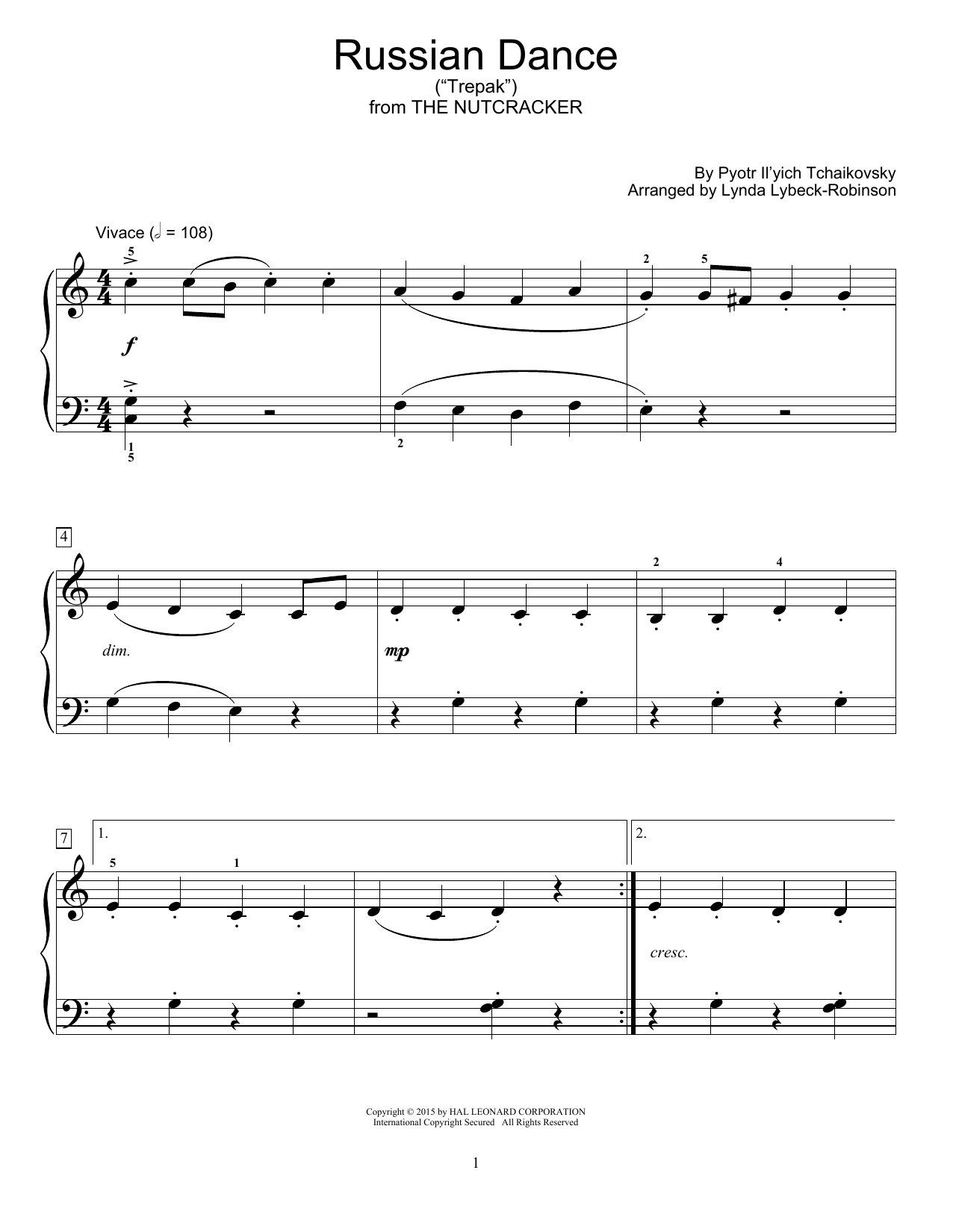 "Russian Dance (""Trepak"") Sheet Music"